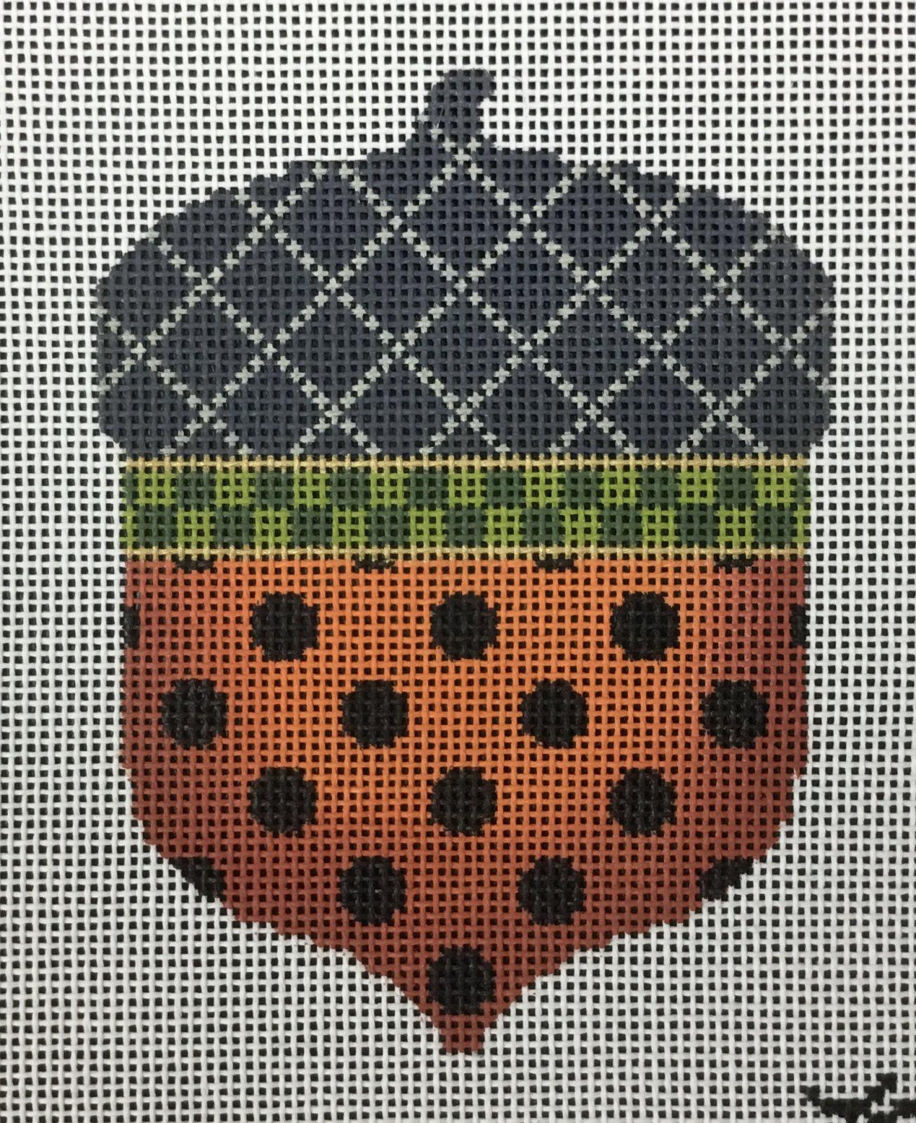 Halloween Polka Dots Acorn, 18M, 3.25x4.5