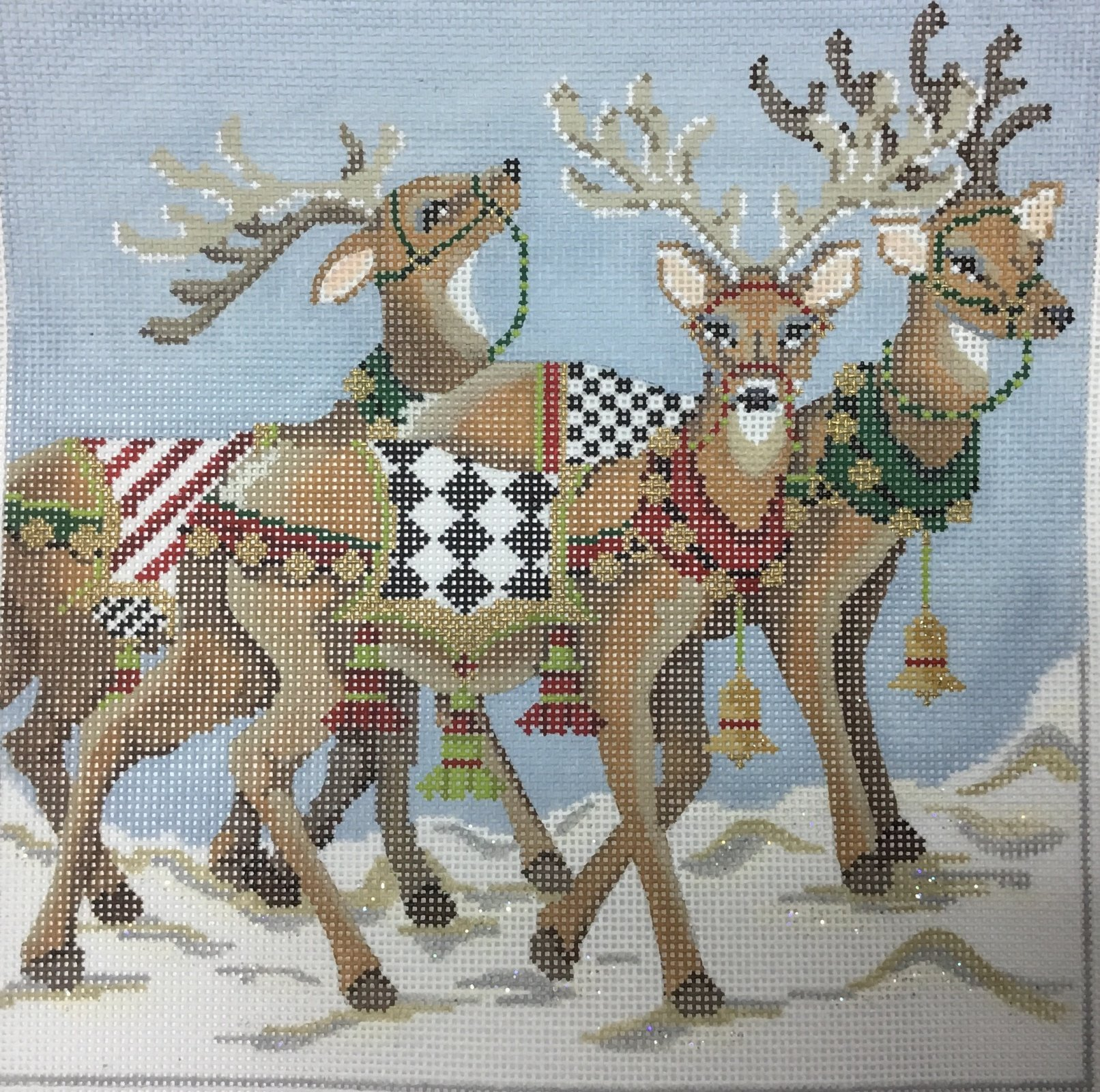 North Pole Reindeer,18 ct.,7 1/2x7 1/2