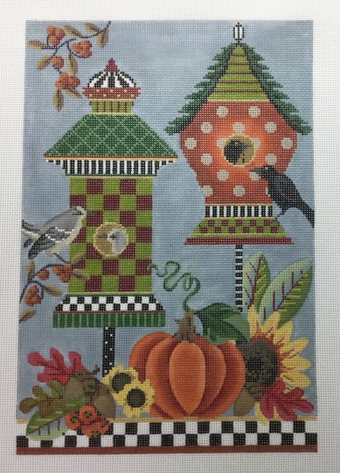 AUTUMN BIRD HOUSES, 7X10, 18M