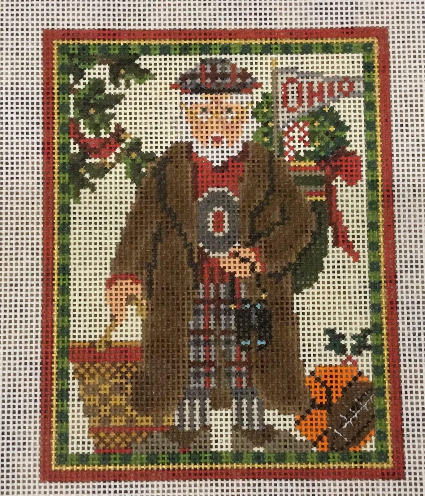 Buckeye Santa,13 ct.,5x6 1/2