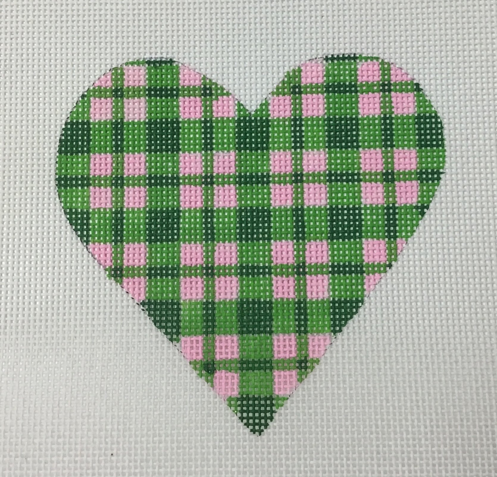 Mini Heart,Green and Pink,18 ct.,4