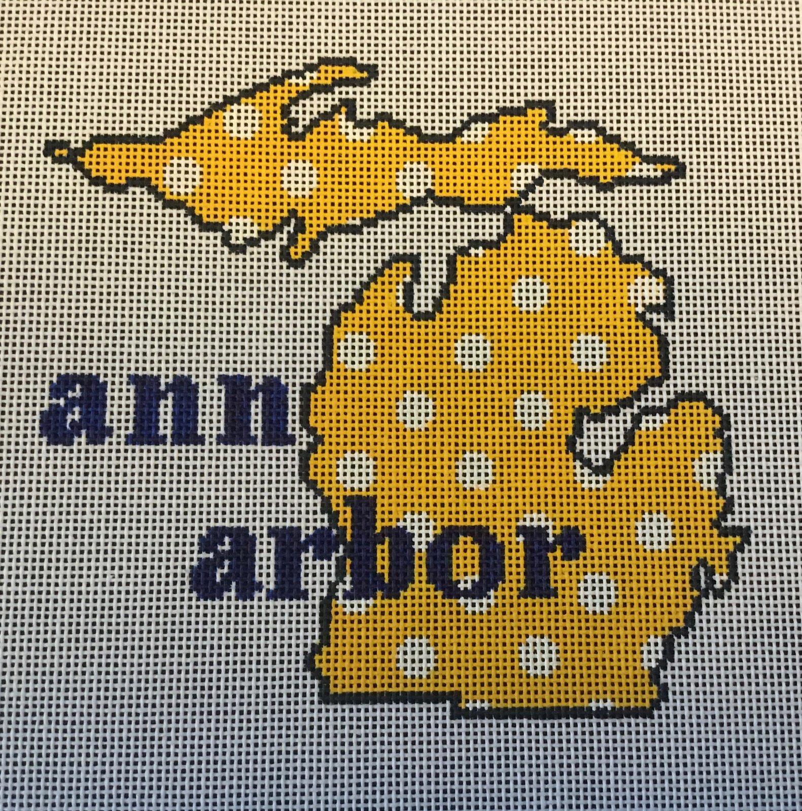Ann Arbor,State Shape, 18 ct.,5x5 1/2