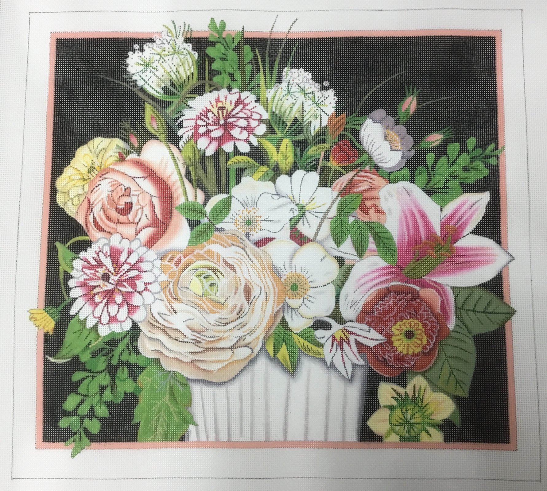 Cabbage Rose Bouquet, 18M, 13x14