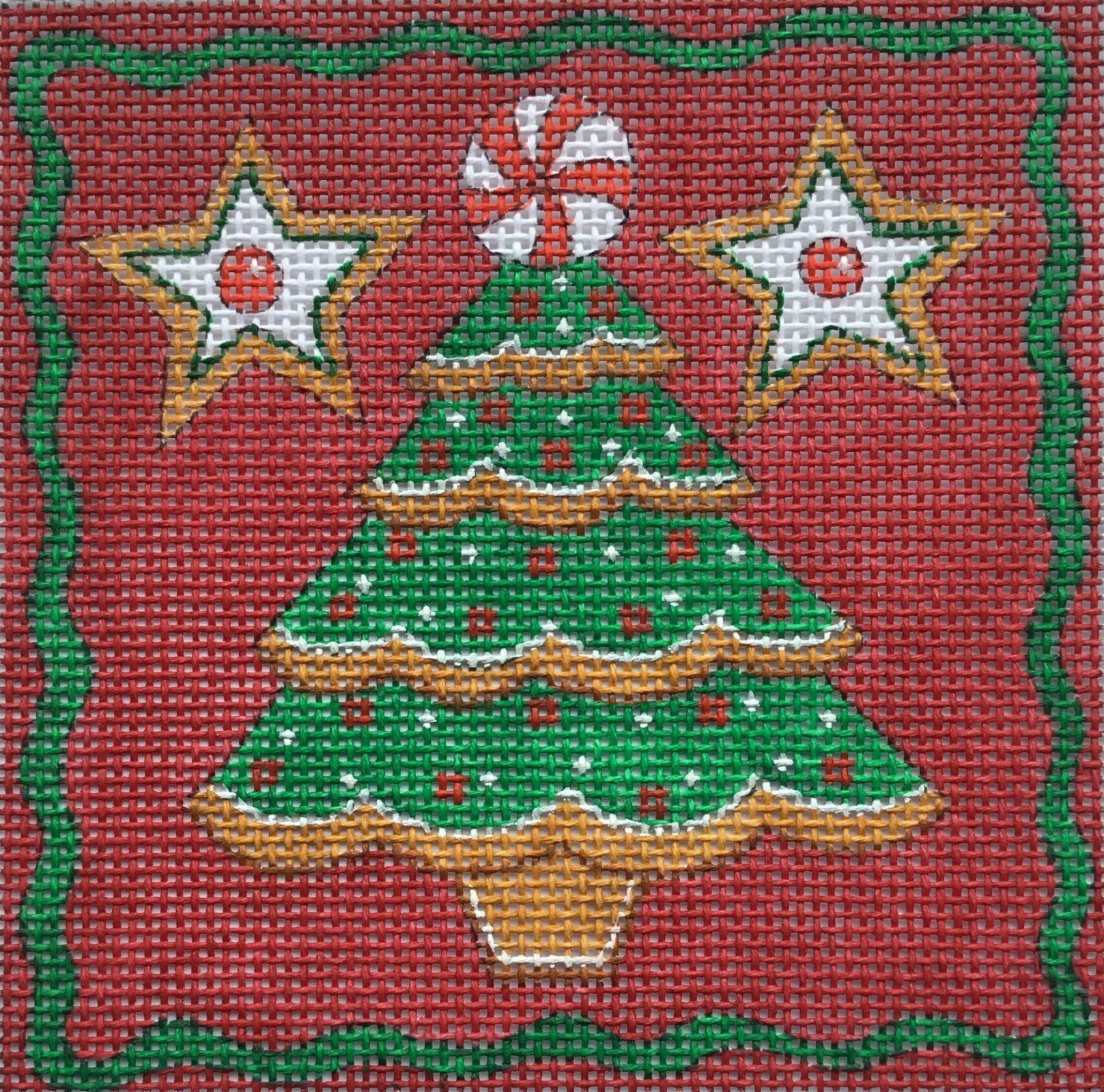 Christmas Tree Square, 18ct., 4 x 4
