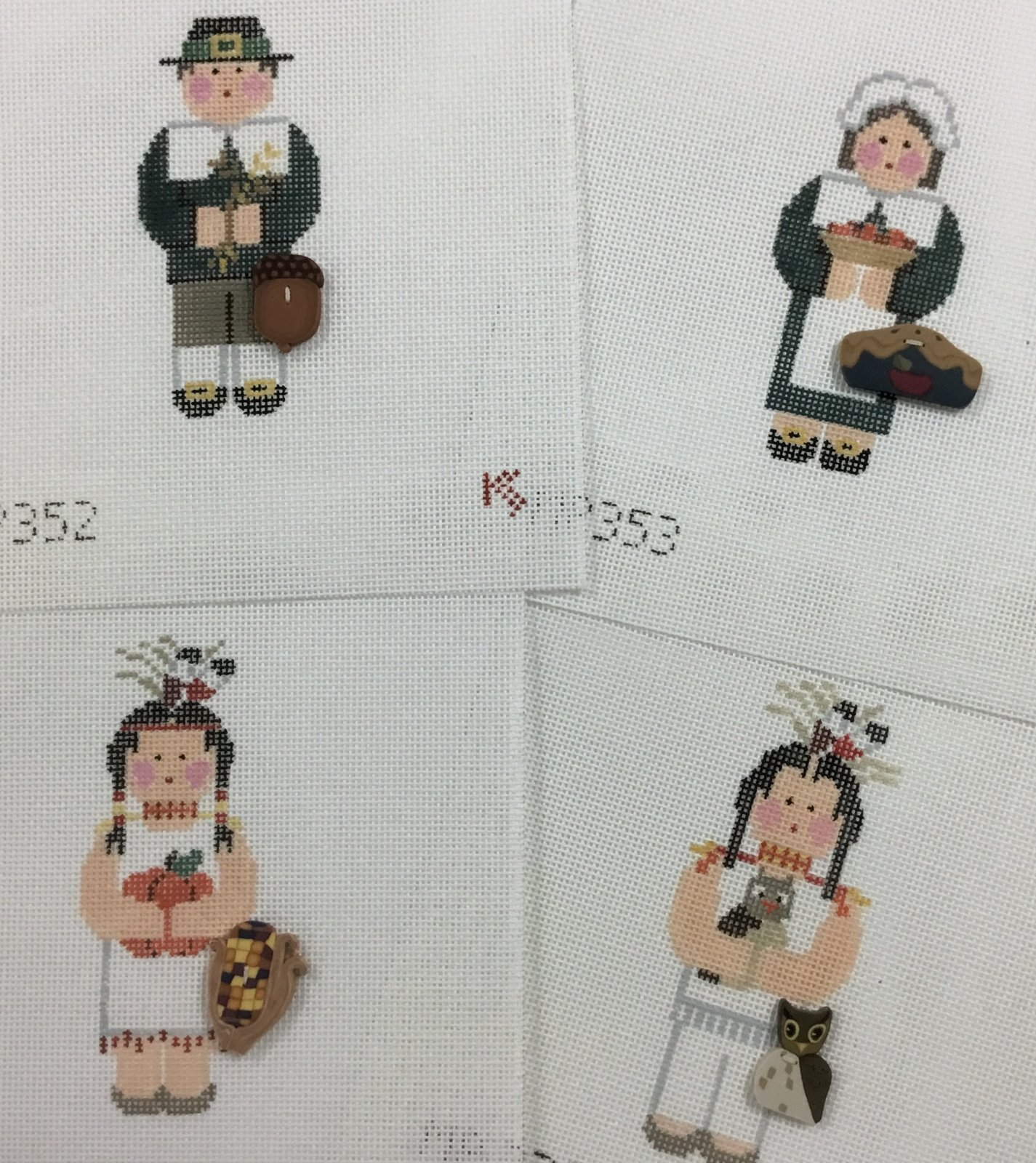 Give Thanks, Set of Four, 18M, 4sq.