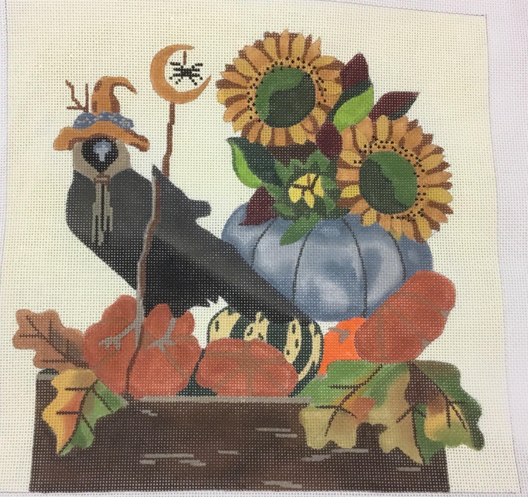 Crow w Hat & Sunflowers w SG