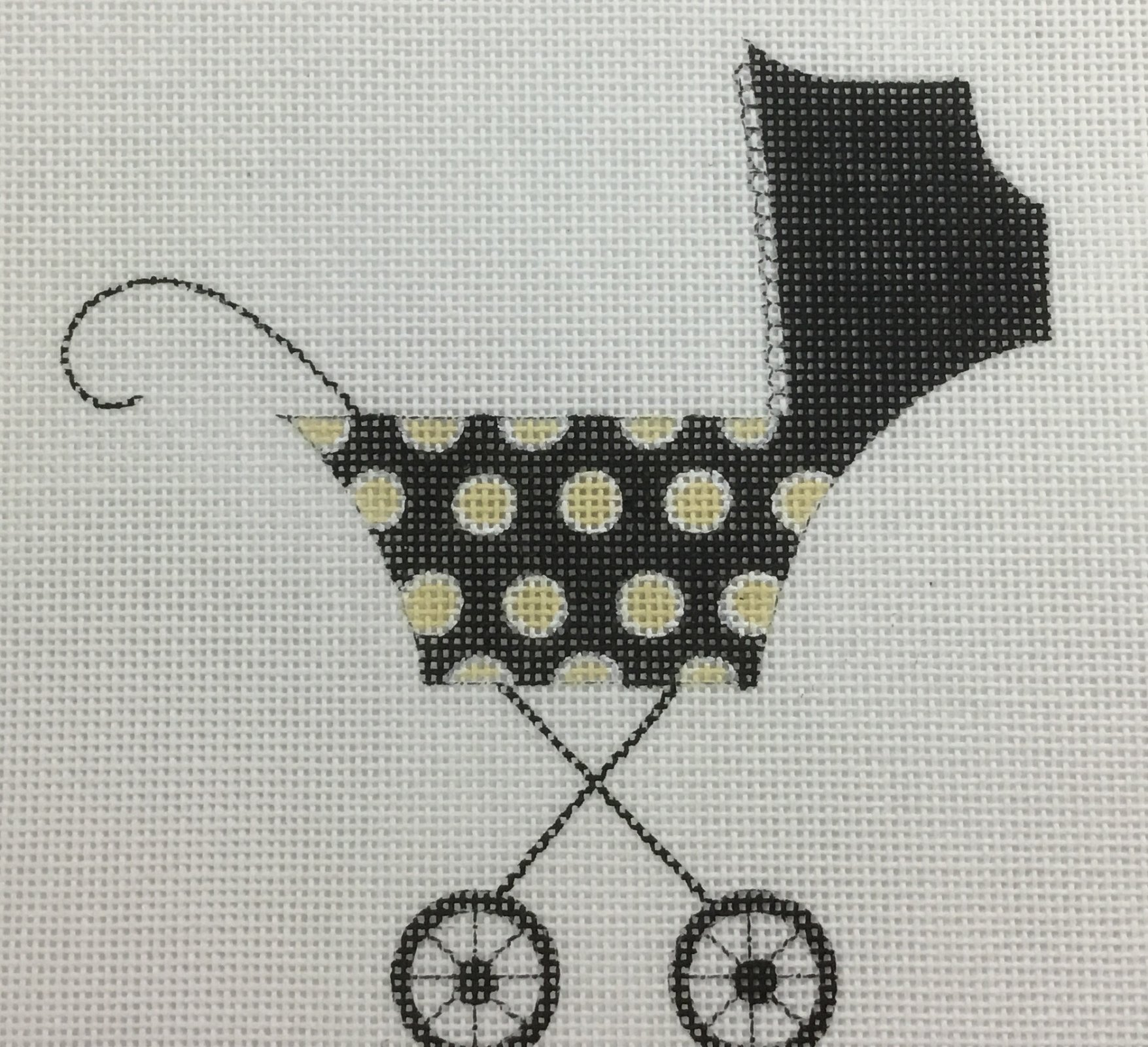 Baby Buggy, 18ct., 5 x 5