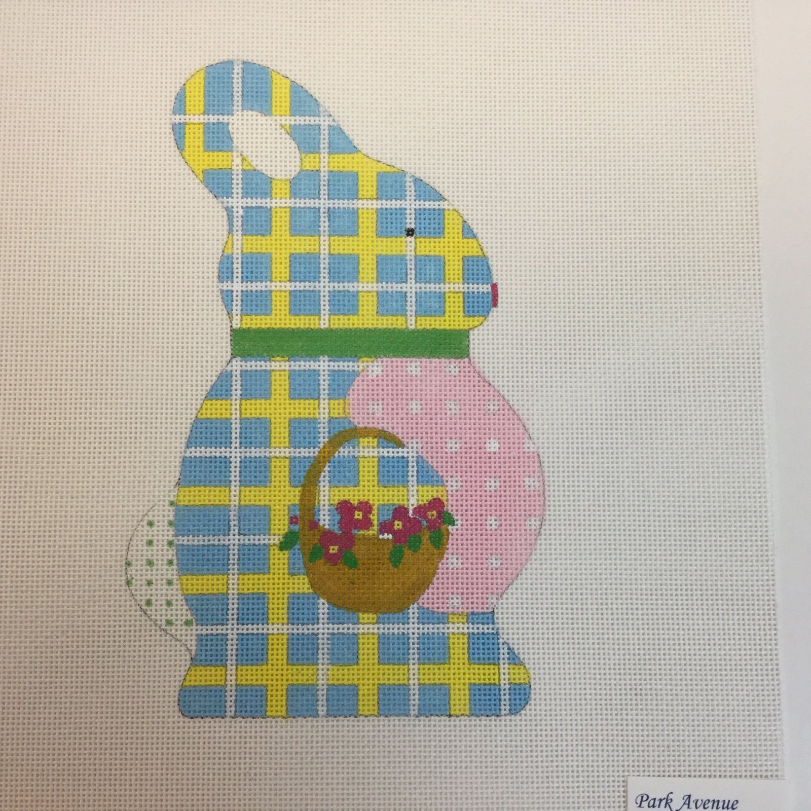 Blue & Yellow Stand Up Bunny, 18M, 7.5x4