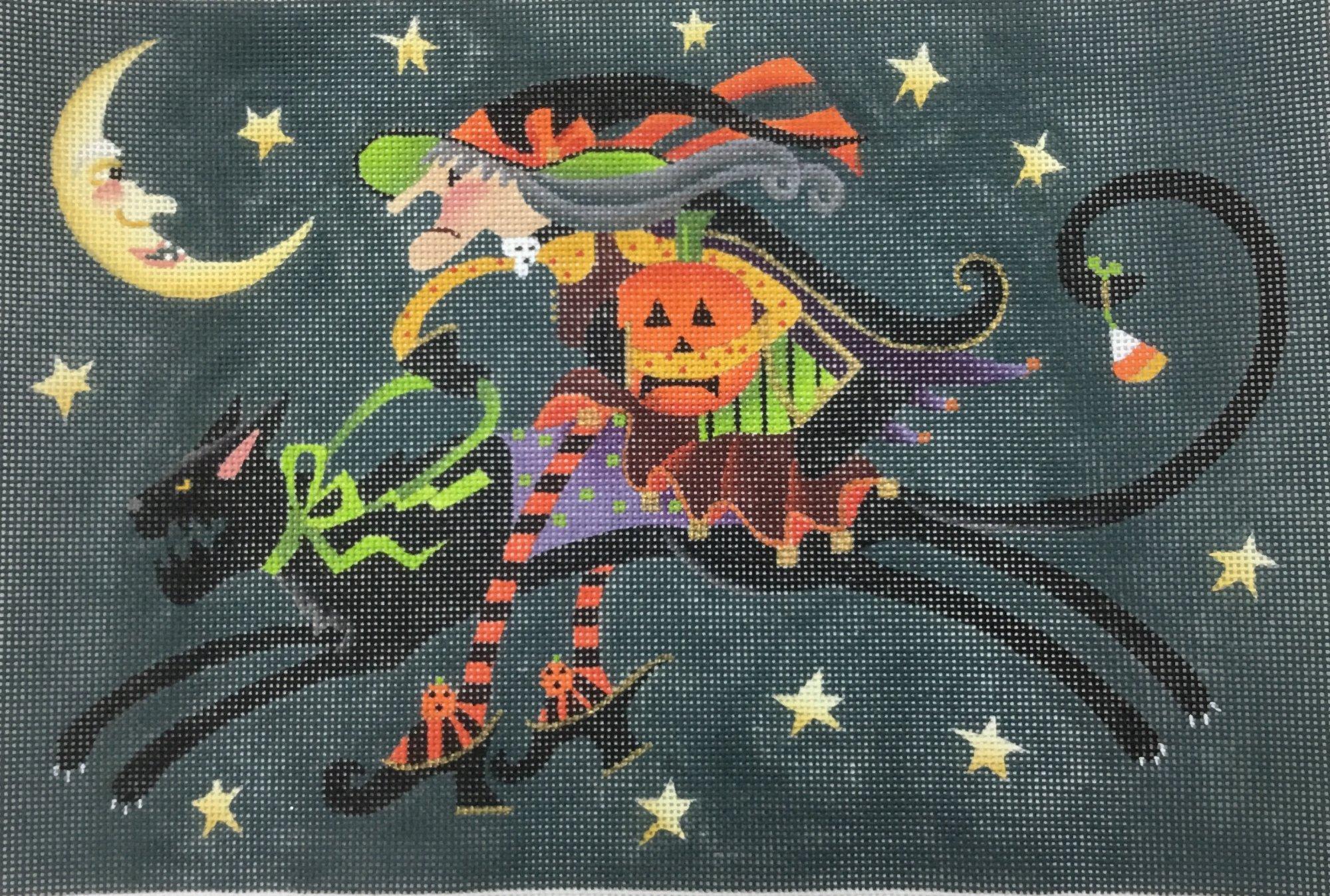 Crabby Cat Witch,13 ct.,10x15