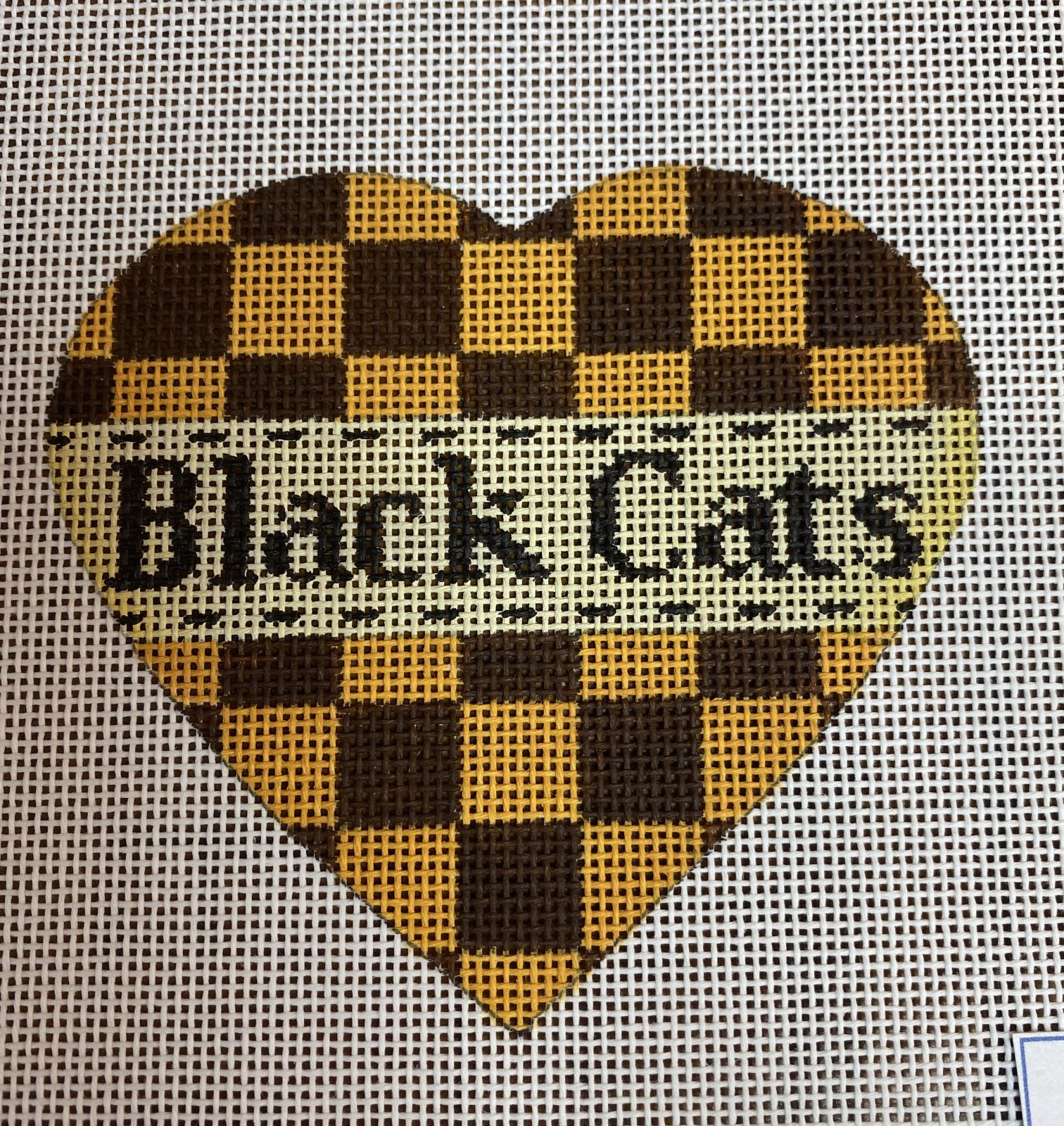 Black Cats Halloween Heart, 18M, 3.5x4