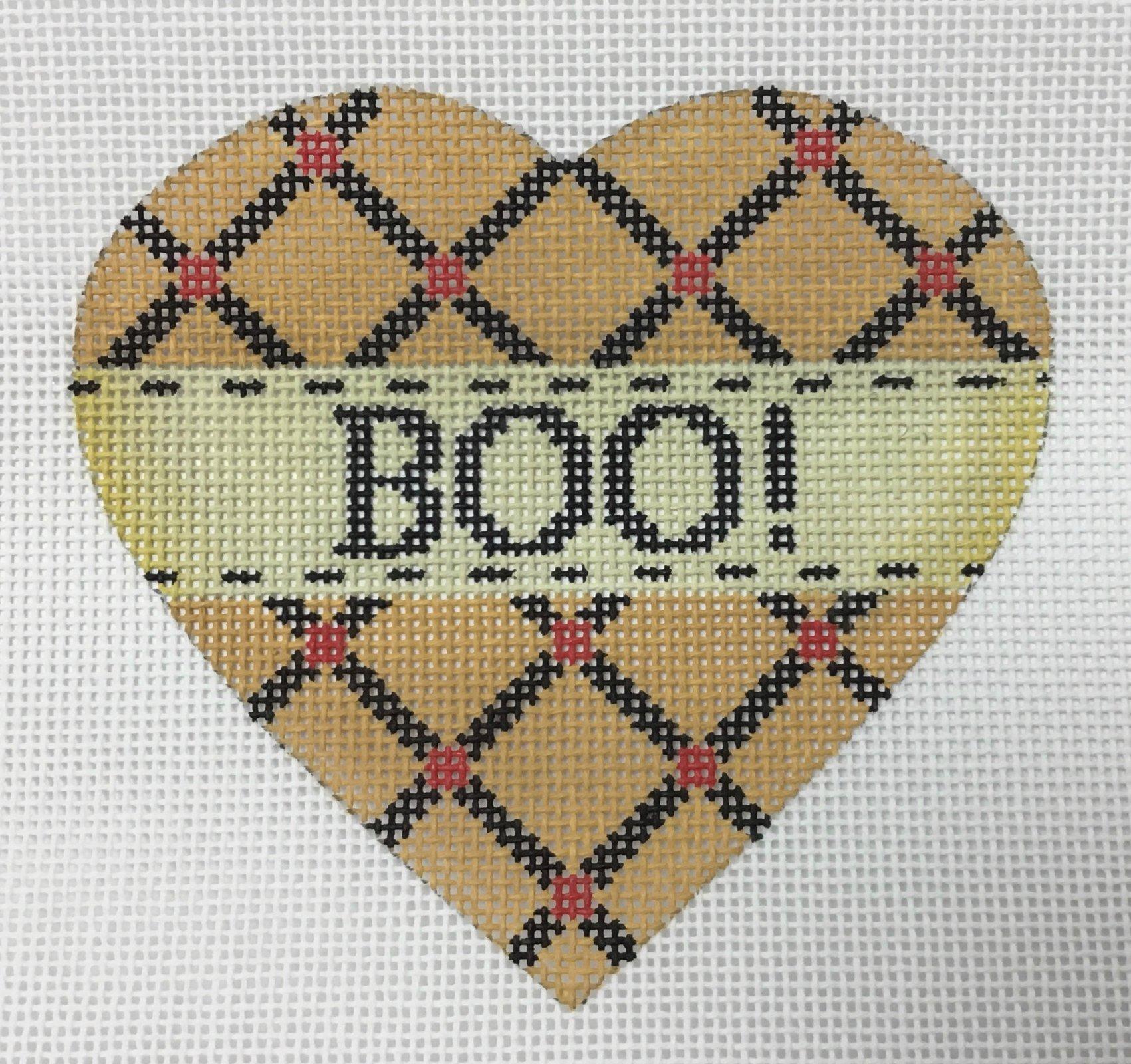 Boo Heart, 18 ct., 4 x 4