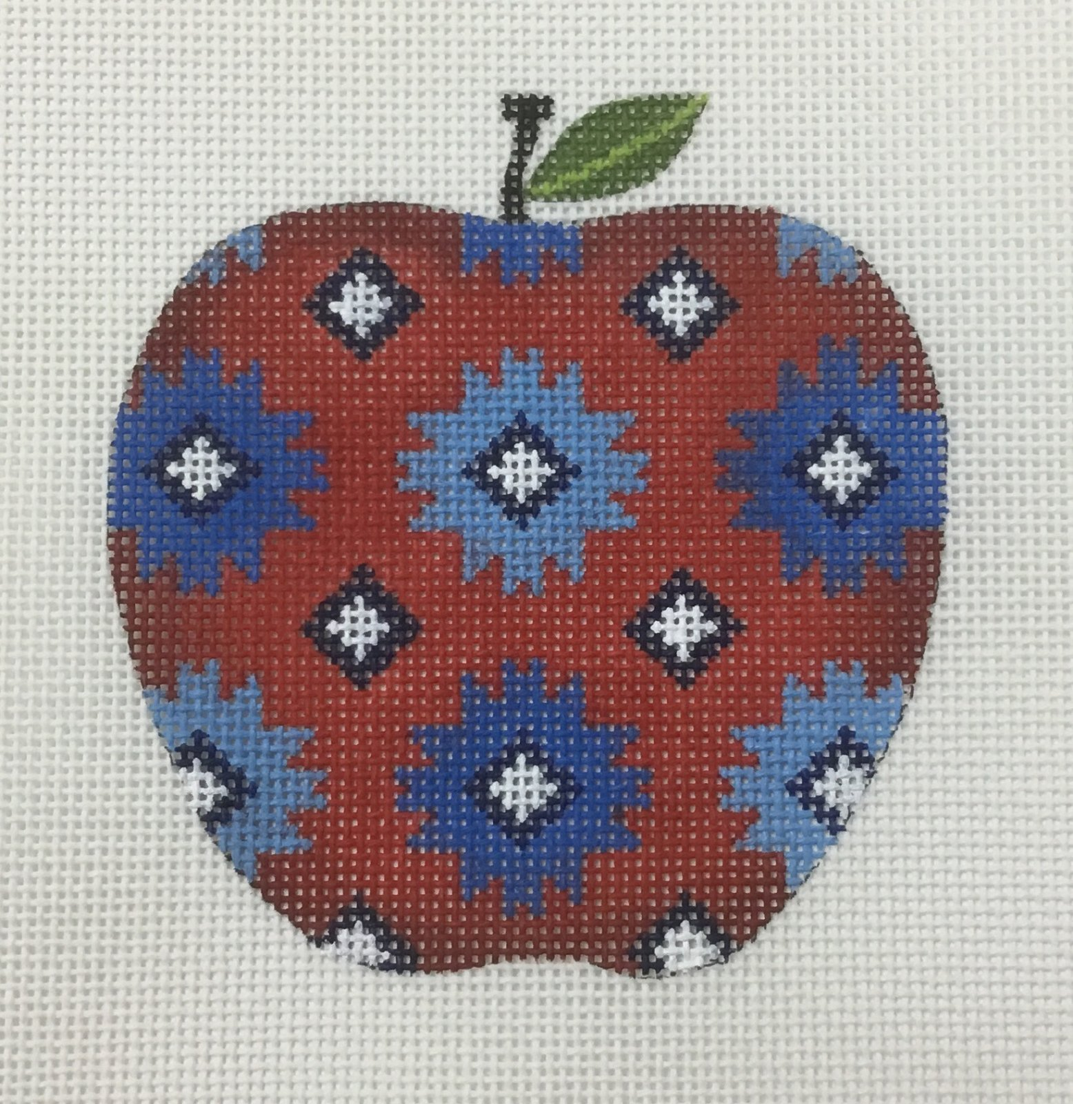 Apple,Indian Design,18ct.,3 1/2x3 1/2