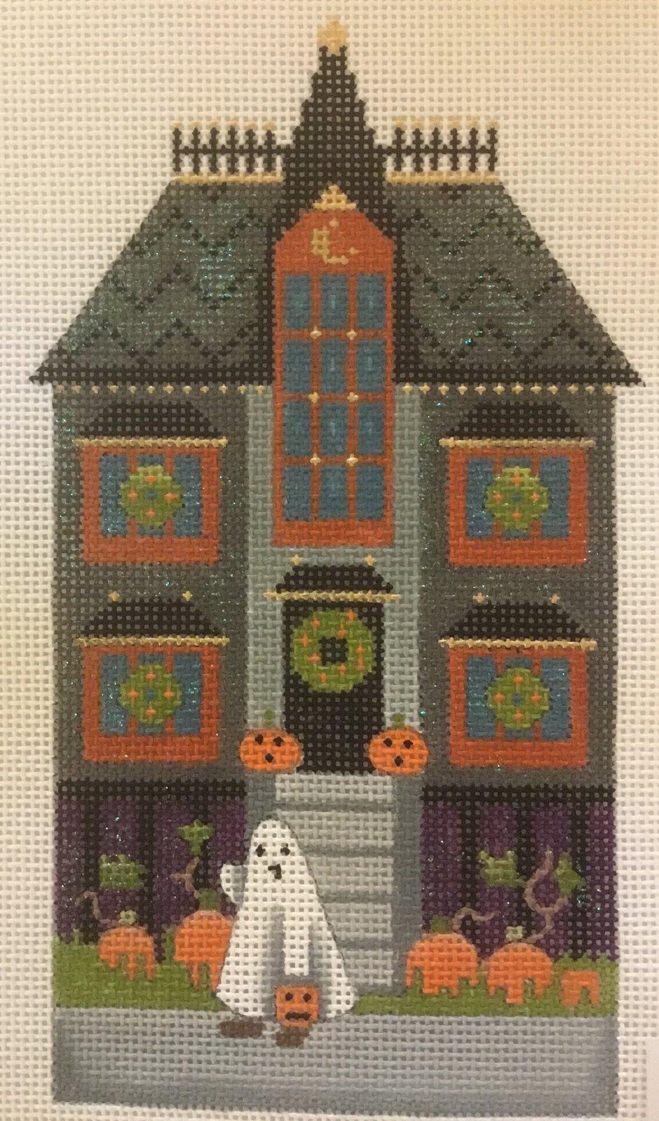 Halloween  House w/ Ghost, 18 ct., 3.5 x 7