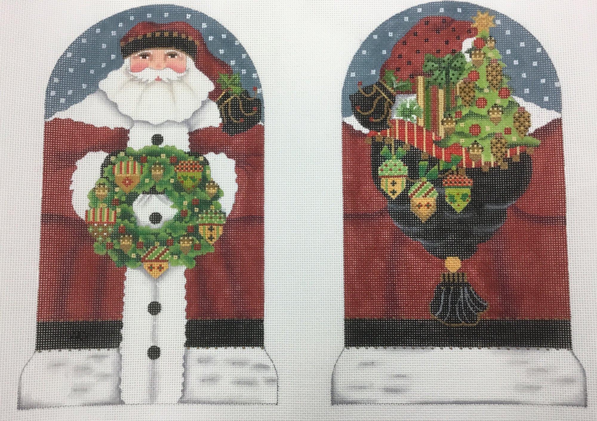Two Sided Acorn Santa,18M, 6x10 each piece