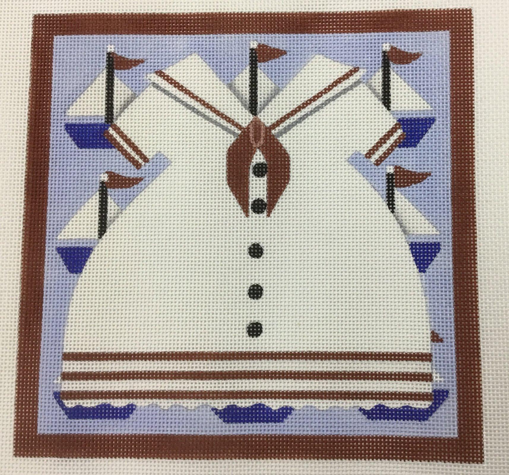 Sailor Dress,13 ct.,9x9