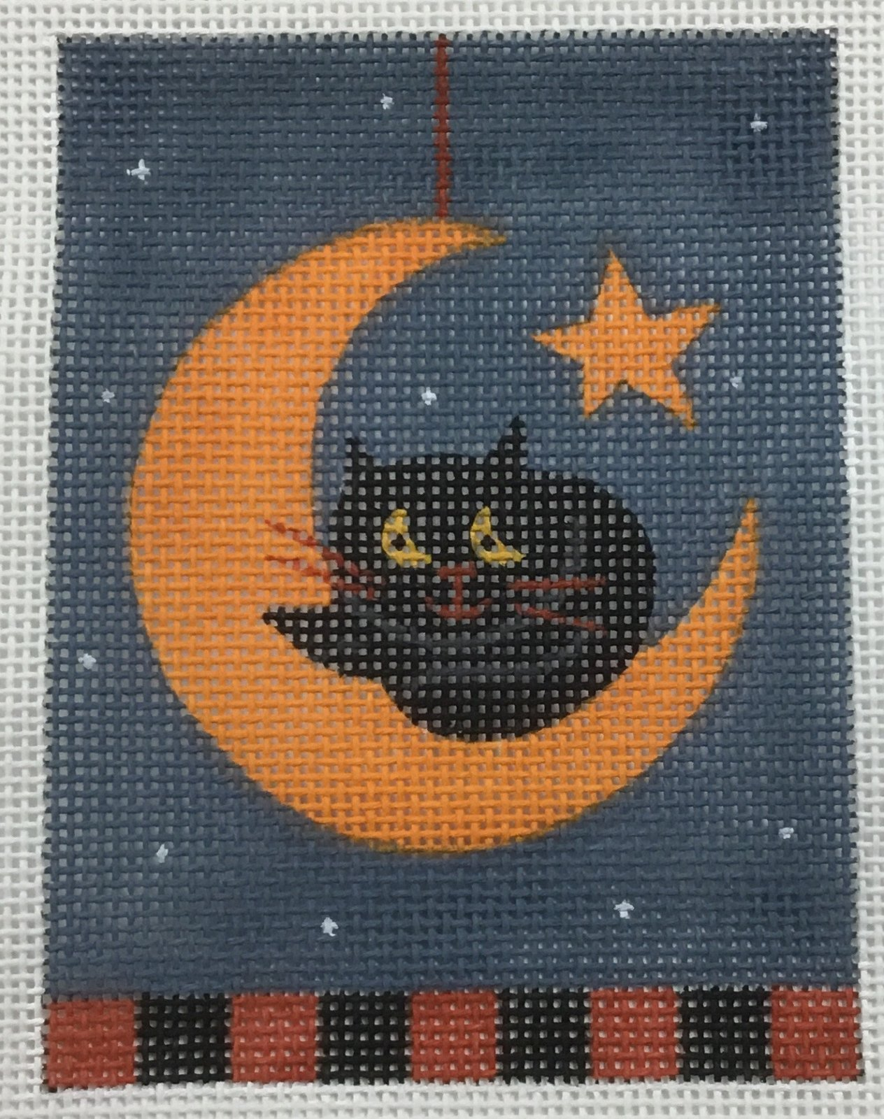 Cat and Moon,18 ct.,3'x4