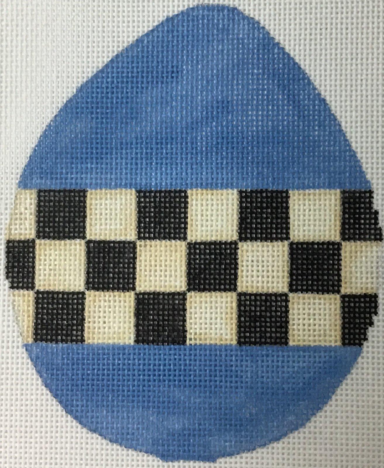 Blue Bow w/ Checks, 5 x 4, 18 ct.