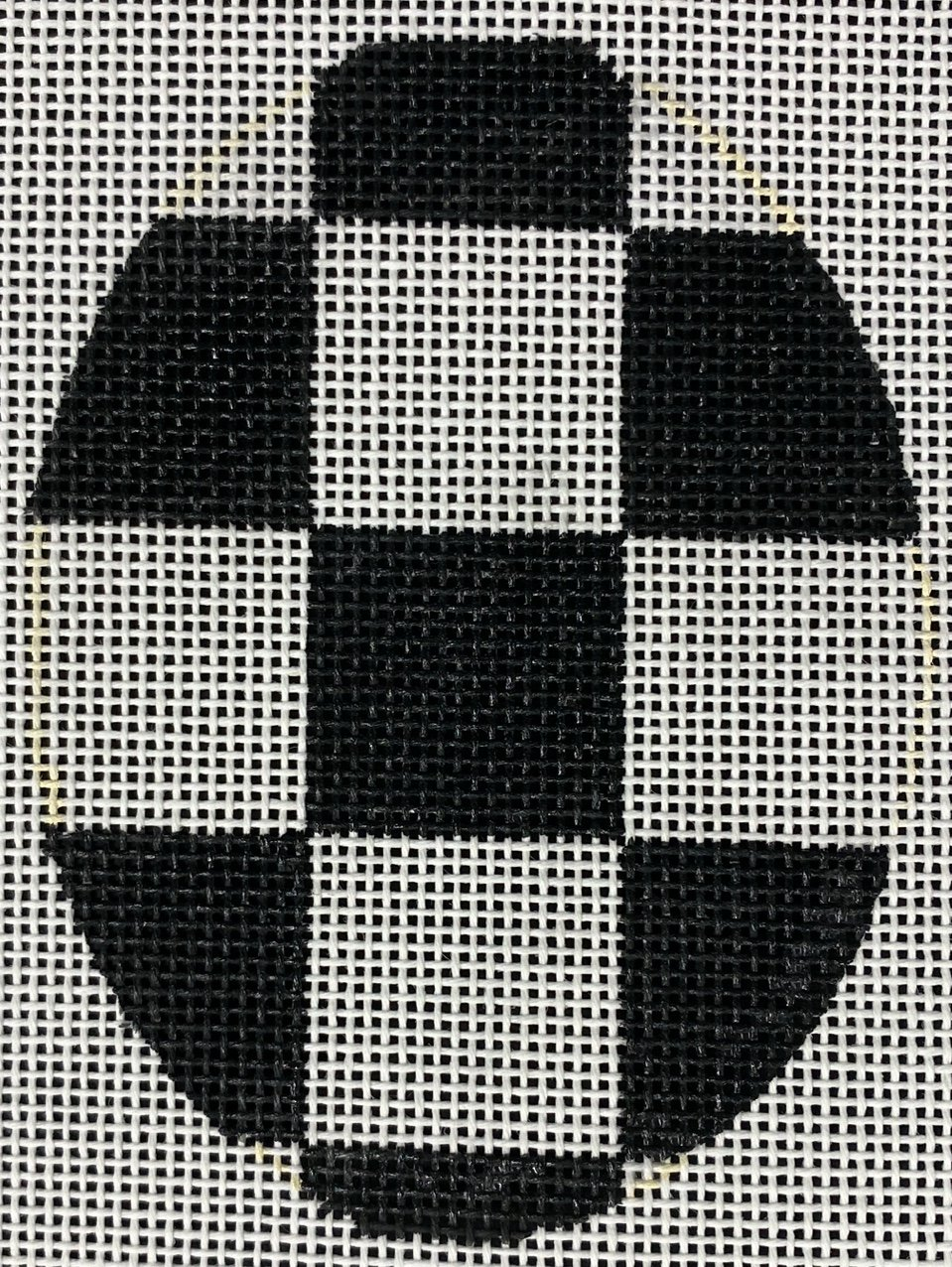 Black & White Check Egg, 4x3, 18M