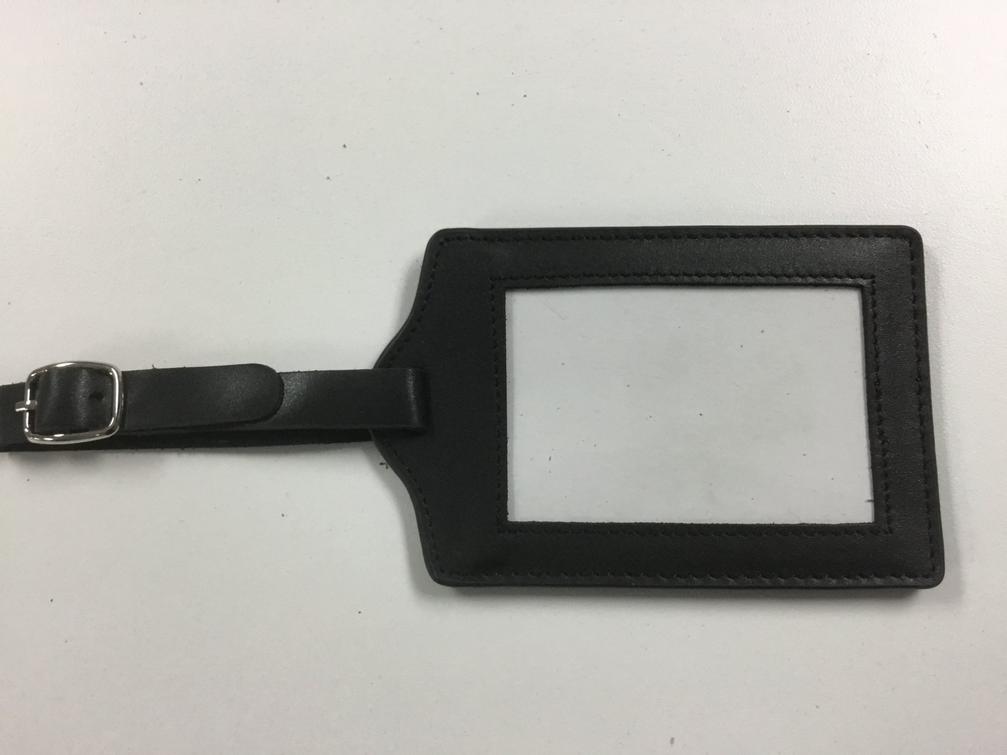 Black Luggage Tag, 3x2 opening