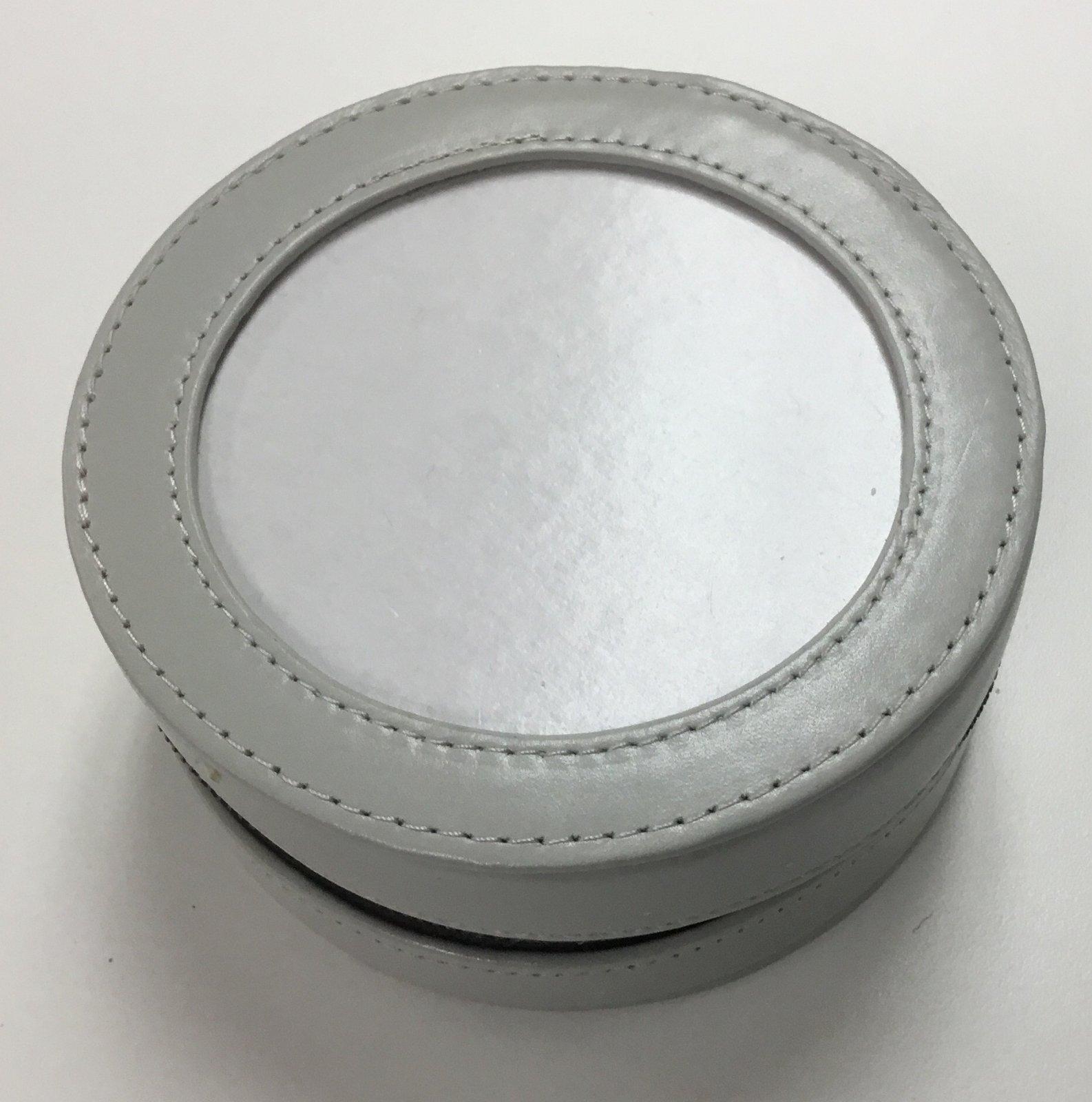 Leather Round Case Gray,4 design area