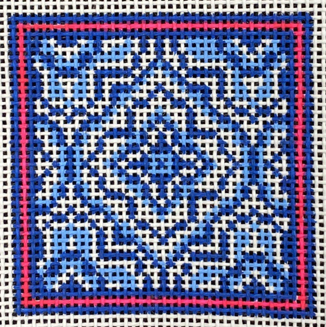 Blue/White,13 ct.,3x3