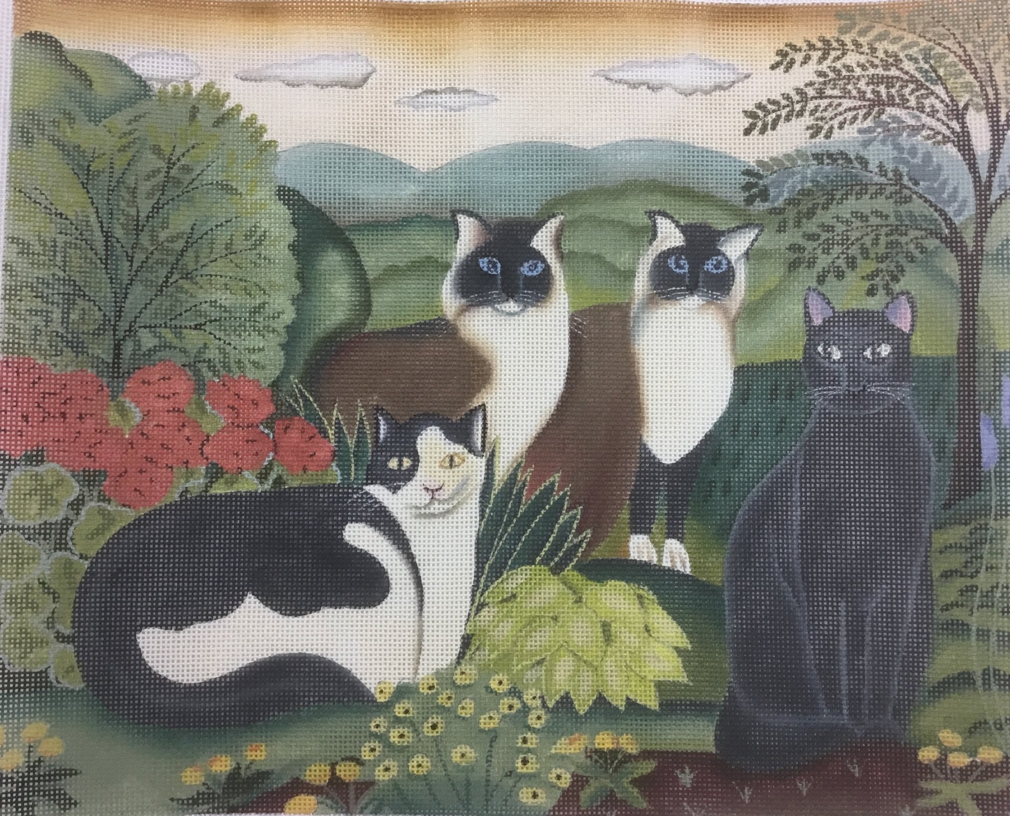 Four Cats,18 ct.,10x12