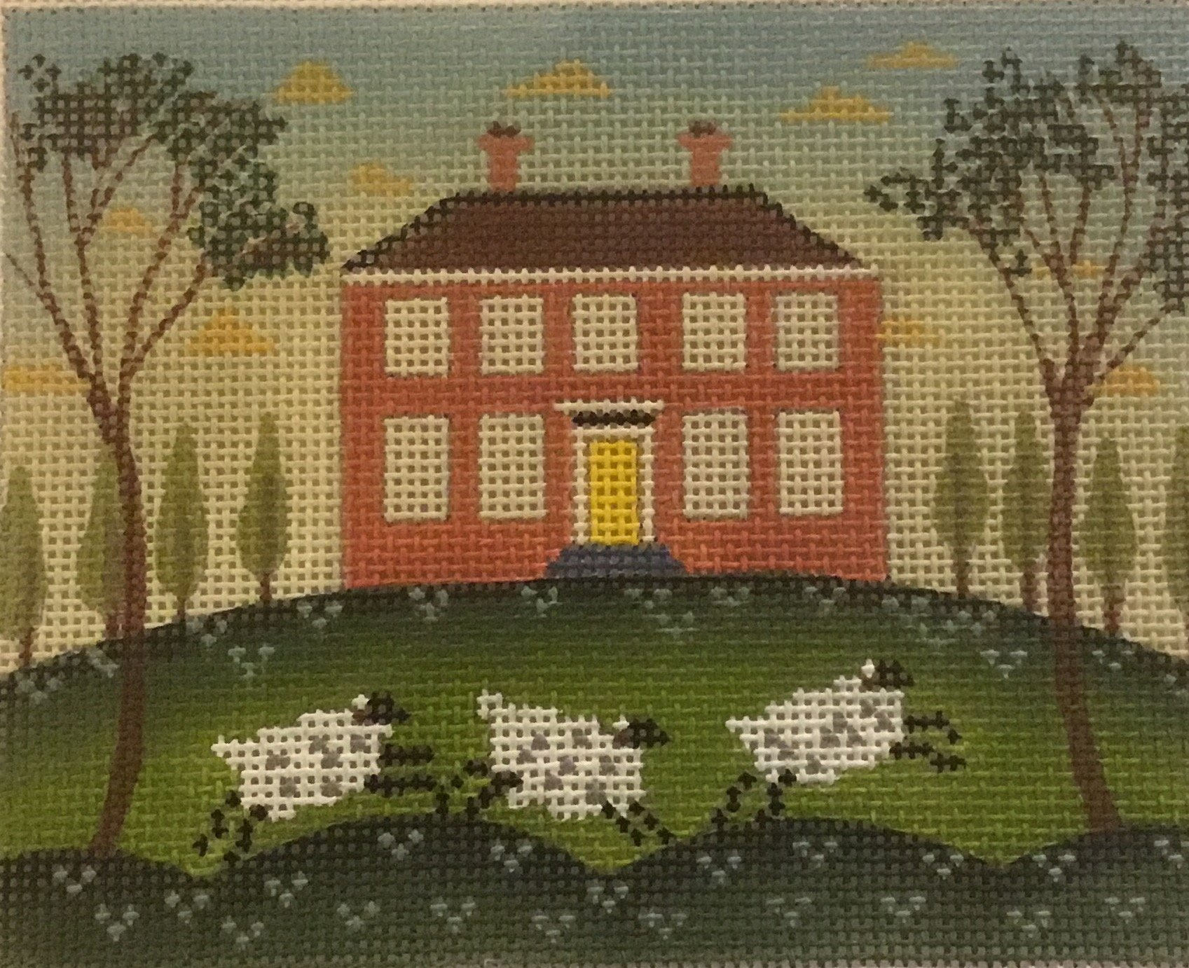 House with sheep,18 ct.,4x5