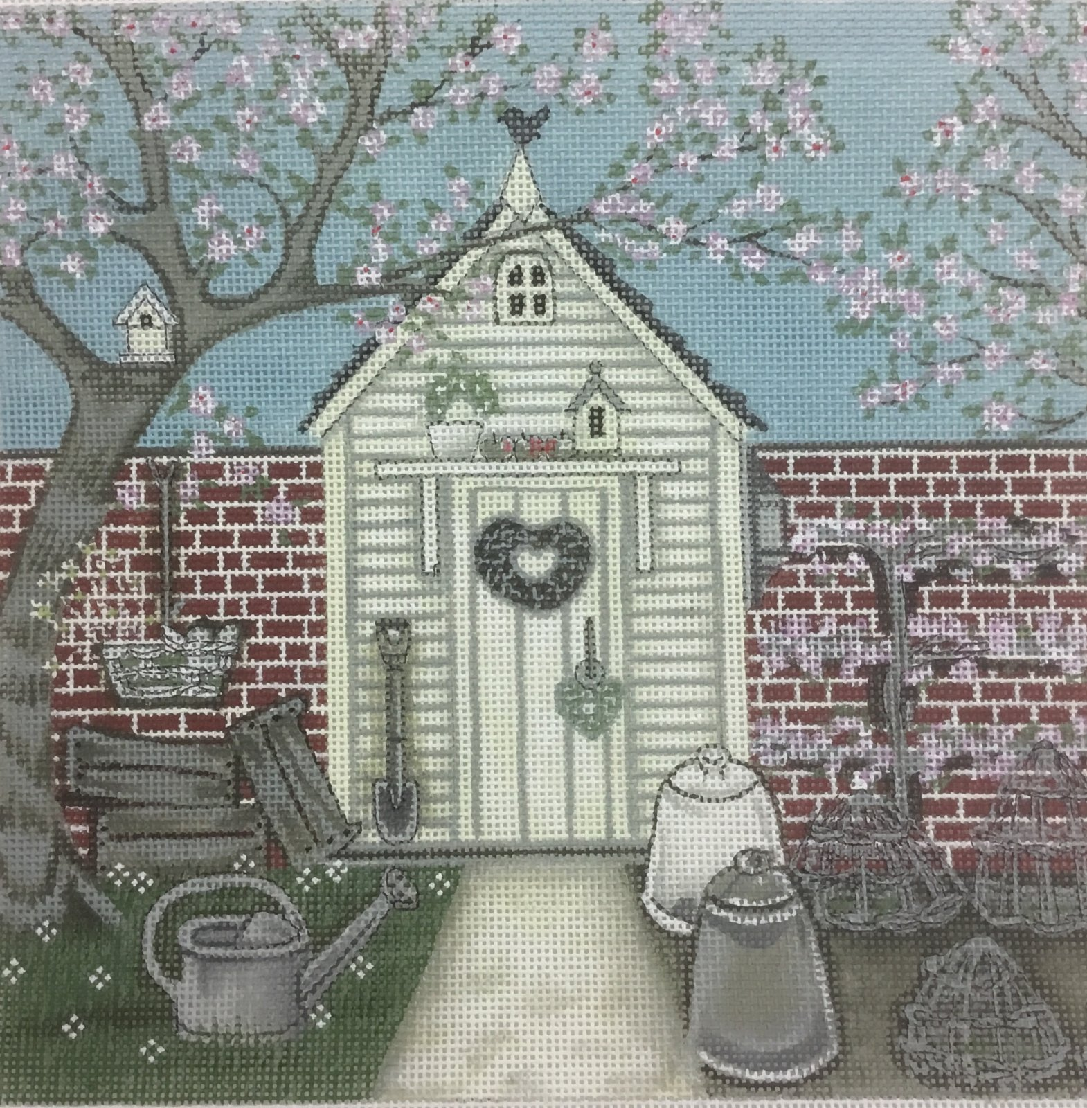 Potting Shed,18 ct.,8x8