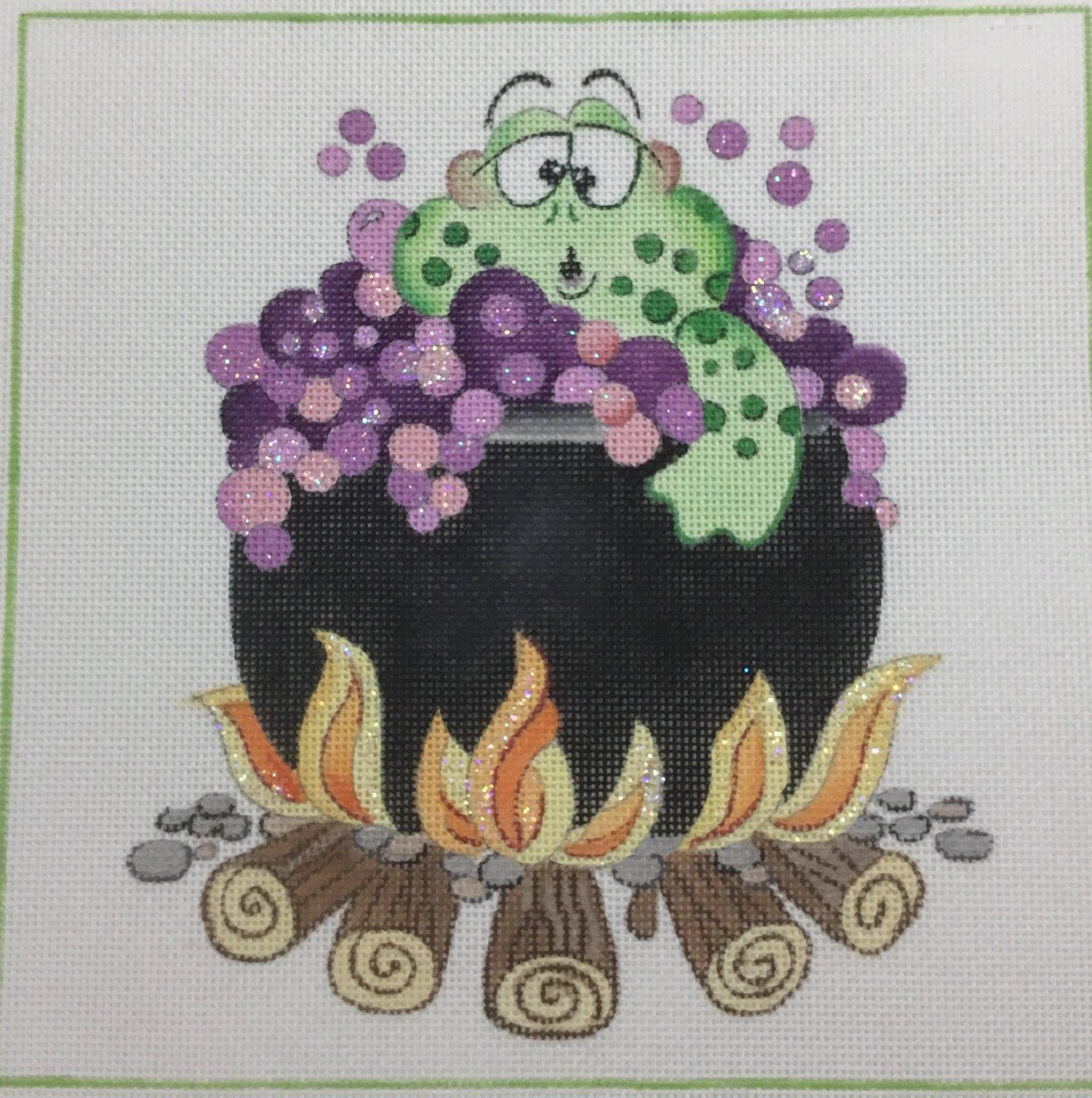 Frog in Cauldron, 18 ct., 8 x 8