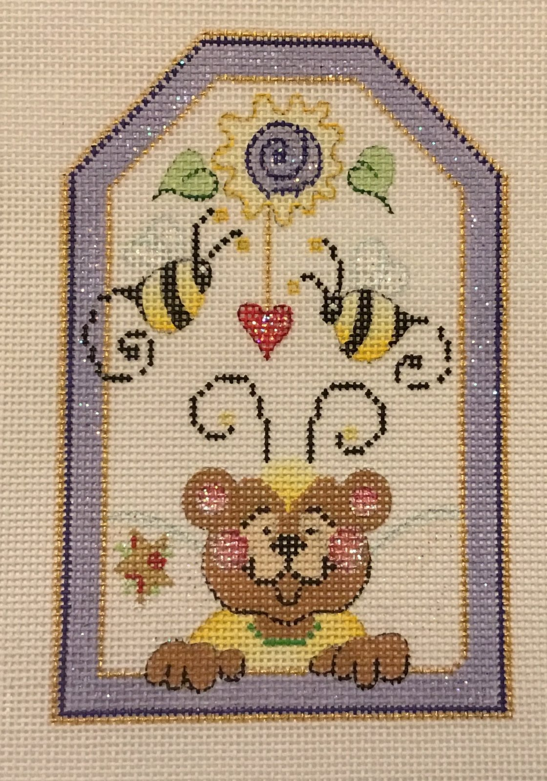 Bear and Bees,18 ct.,3 1/2x5 1/4