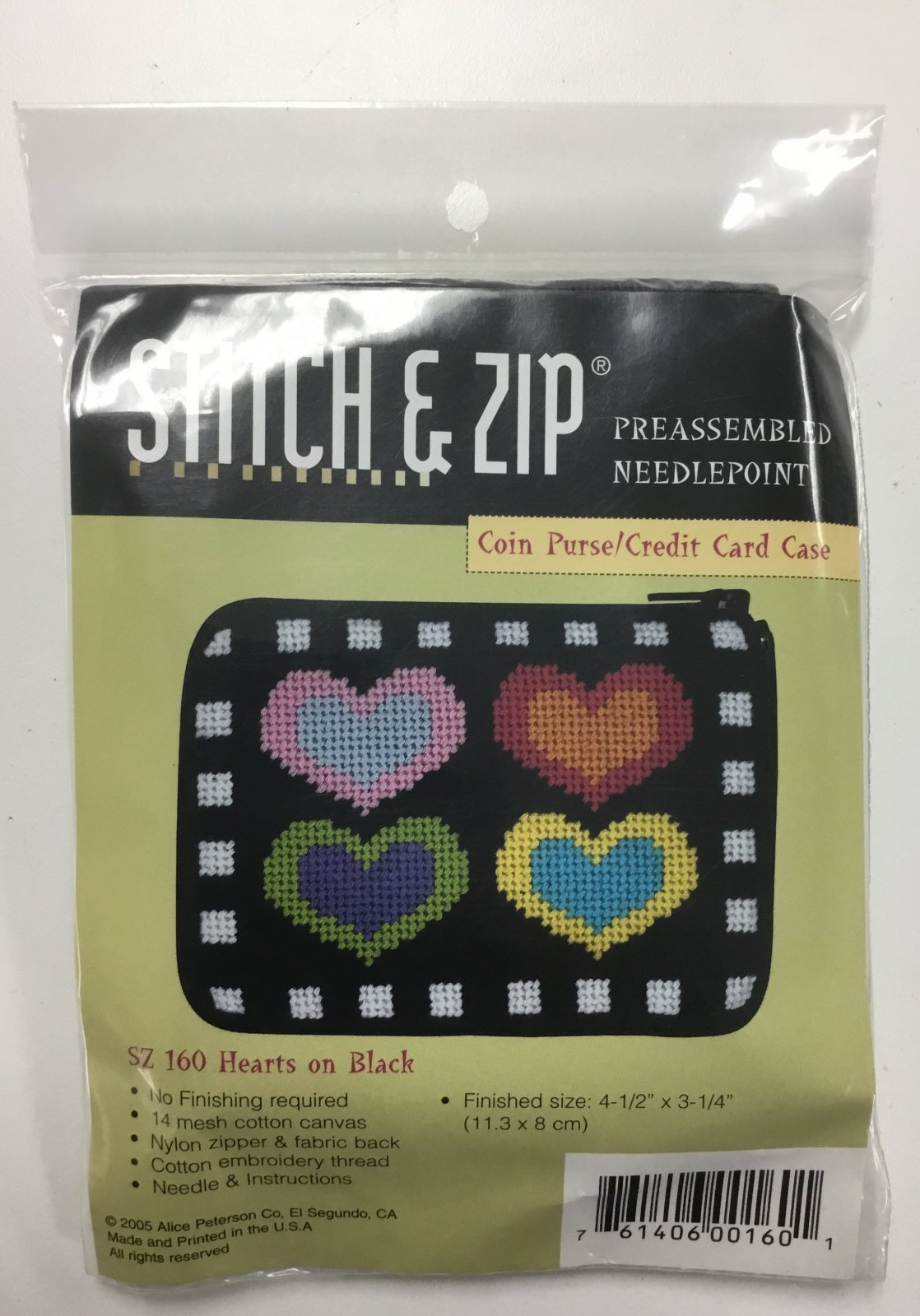 Hearts on Black Coin Purse