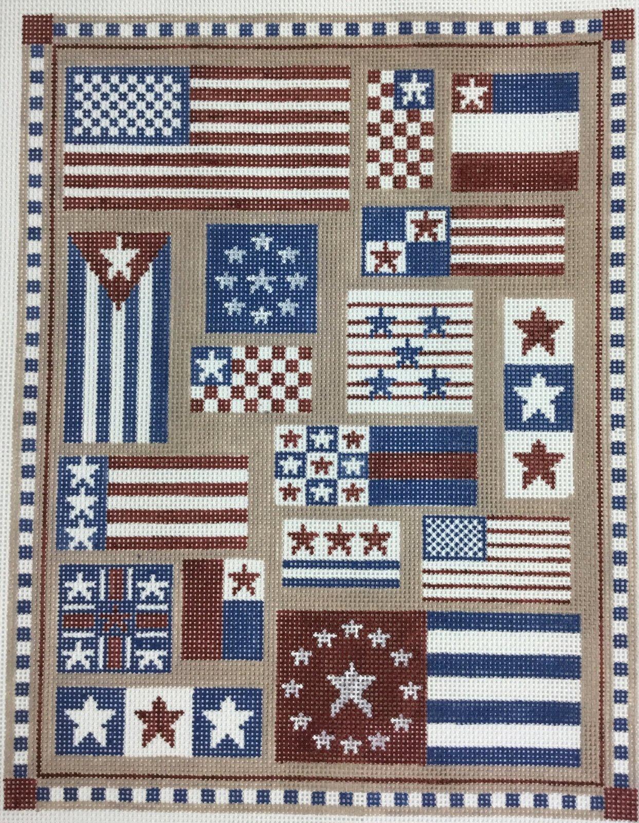 Flag Sampler, 13M,  10.25x13.25