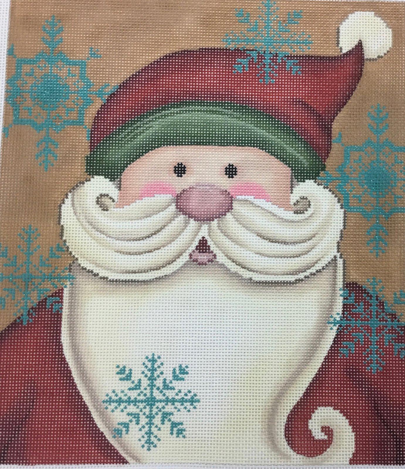 Vintage Santa,13 ct.,10x11 1/2