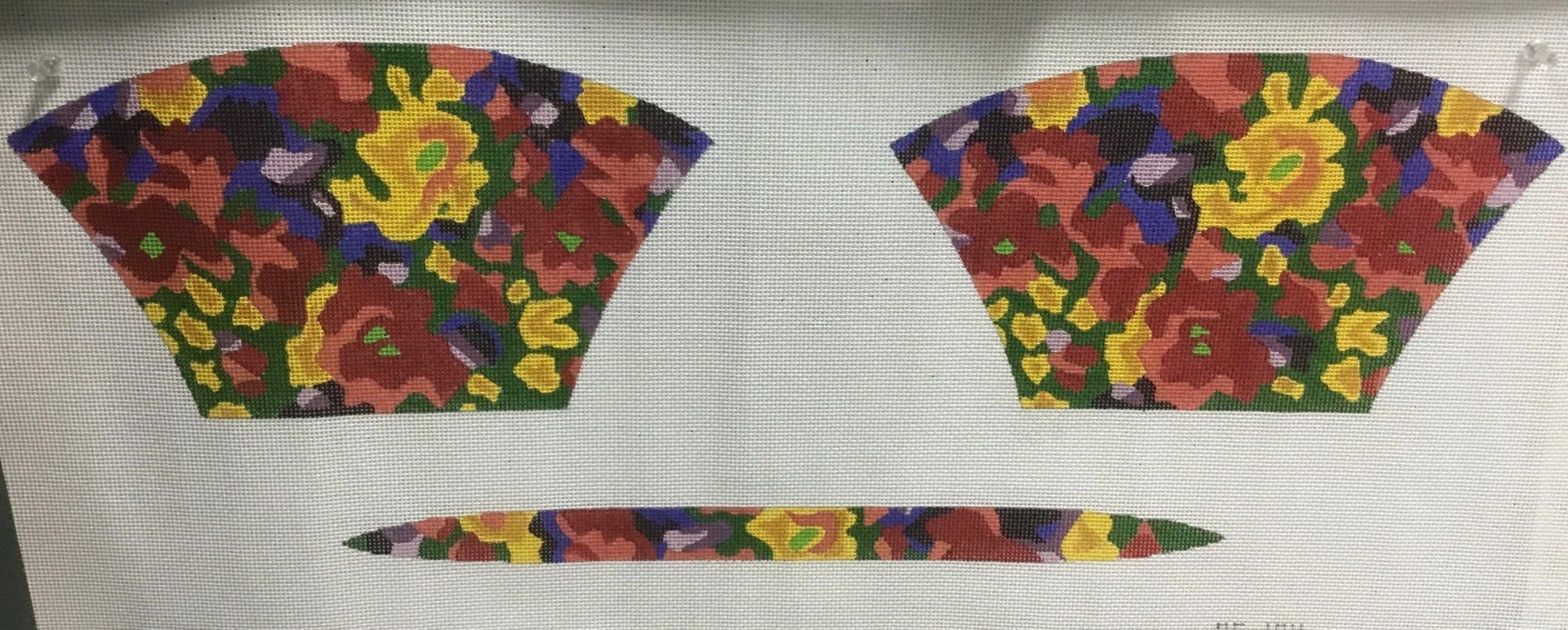 Floral Purse,13 Ct,6 1/2x11