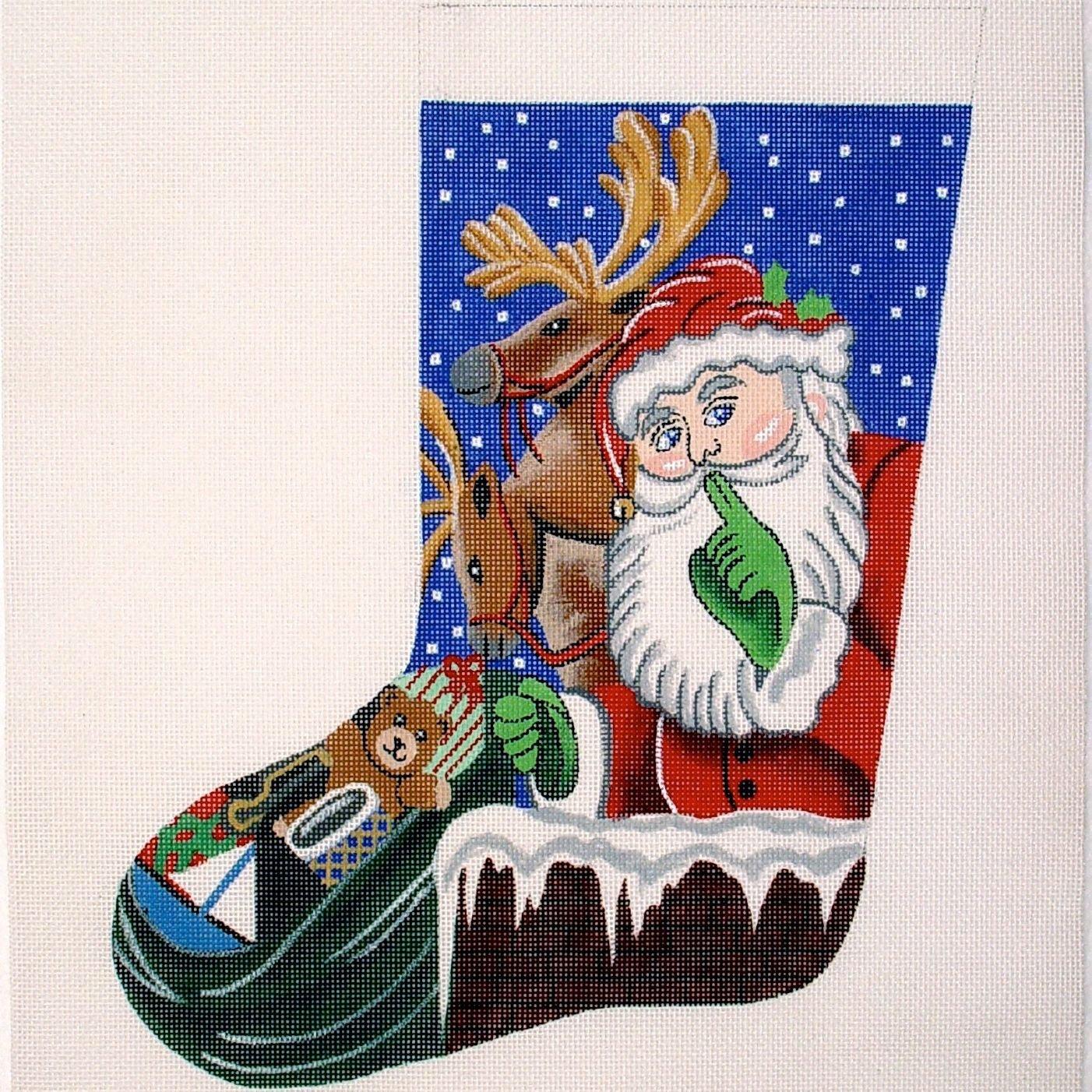 2063 Santa & Deer Stocking