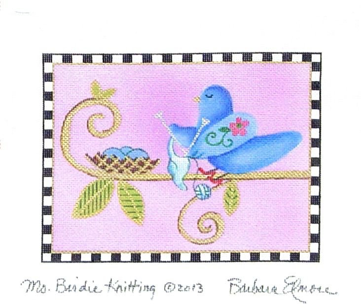 BEJF82 Miss Birdie is Knitting