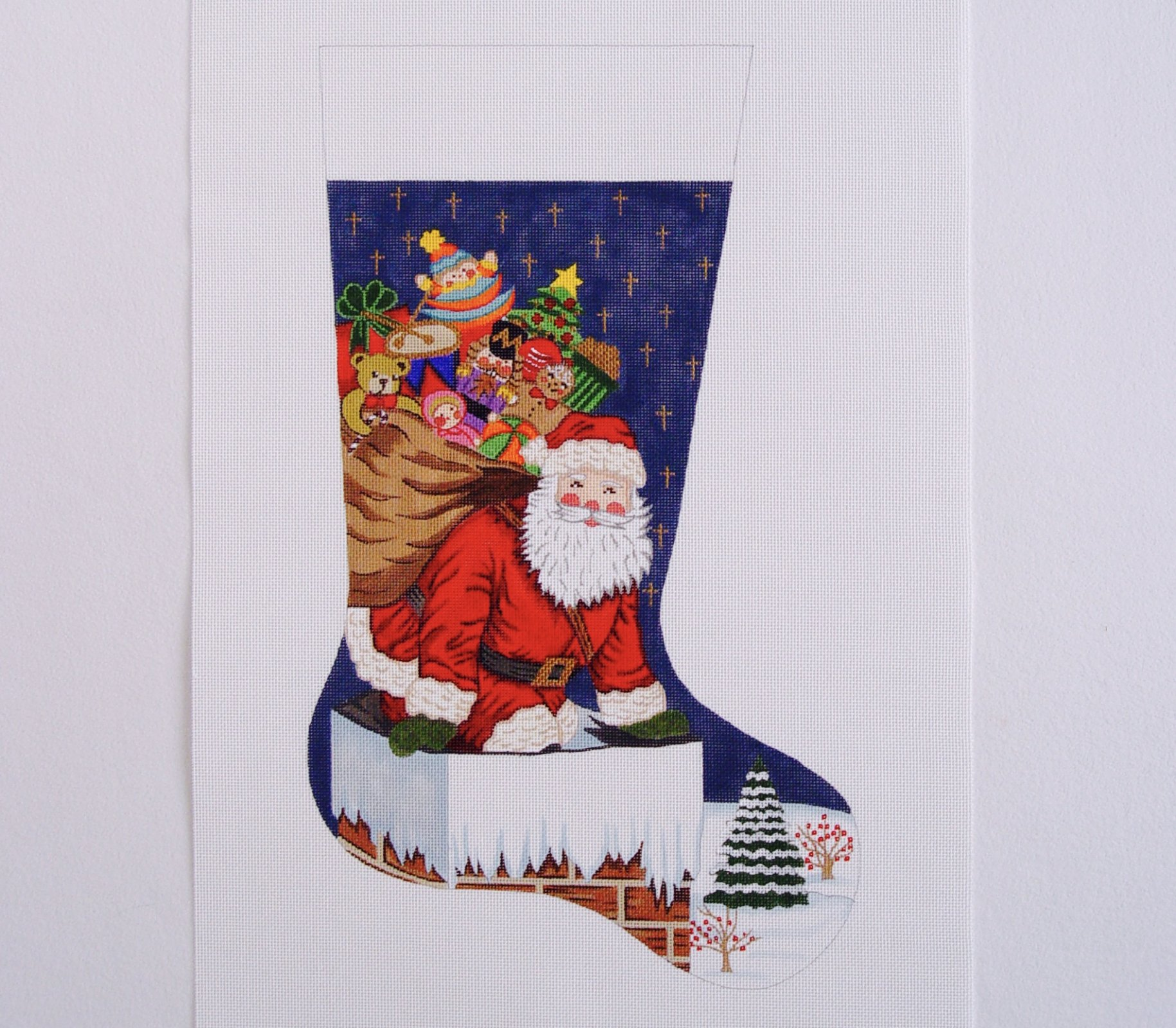 C CS7209 Santa on the Rooftop Stocking