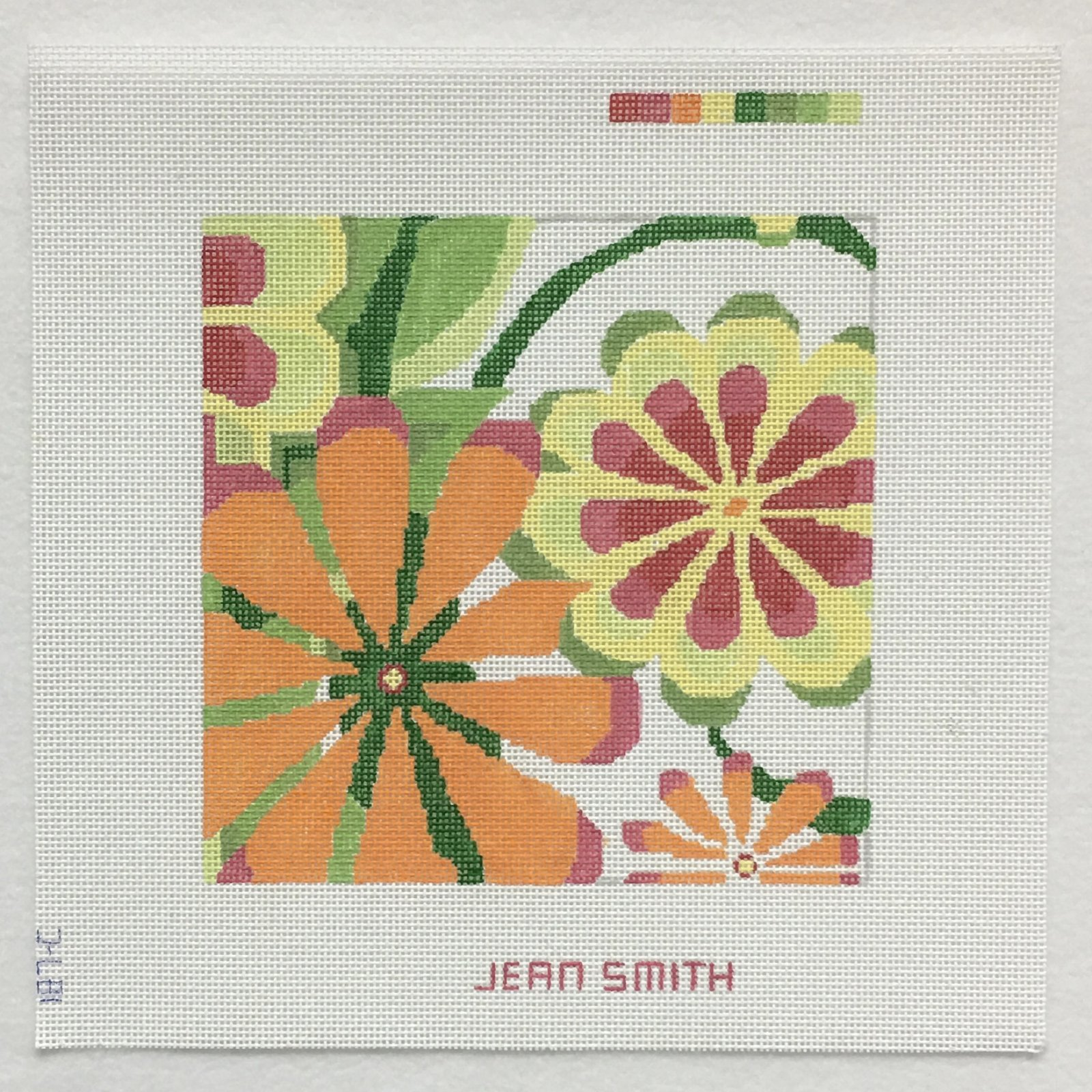187C-2 Small Orange Sherbet Garden