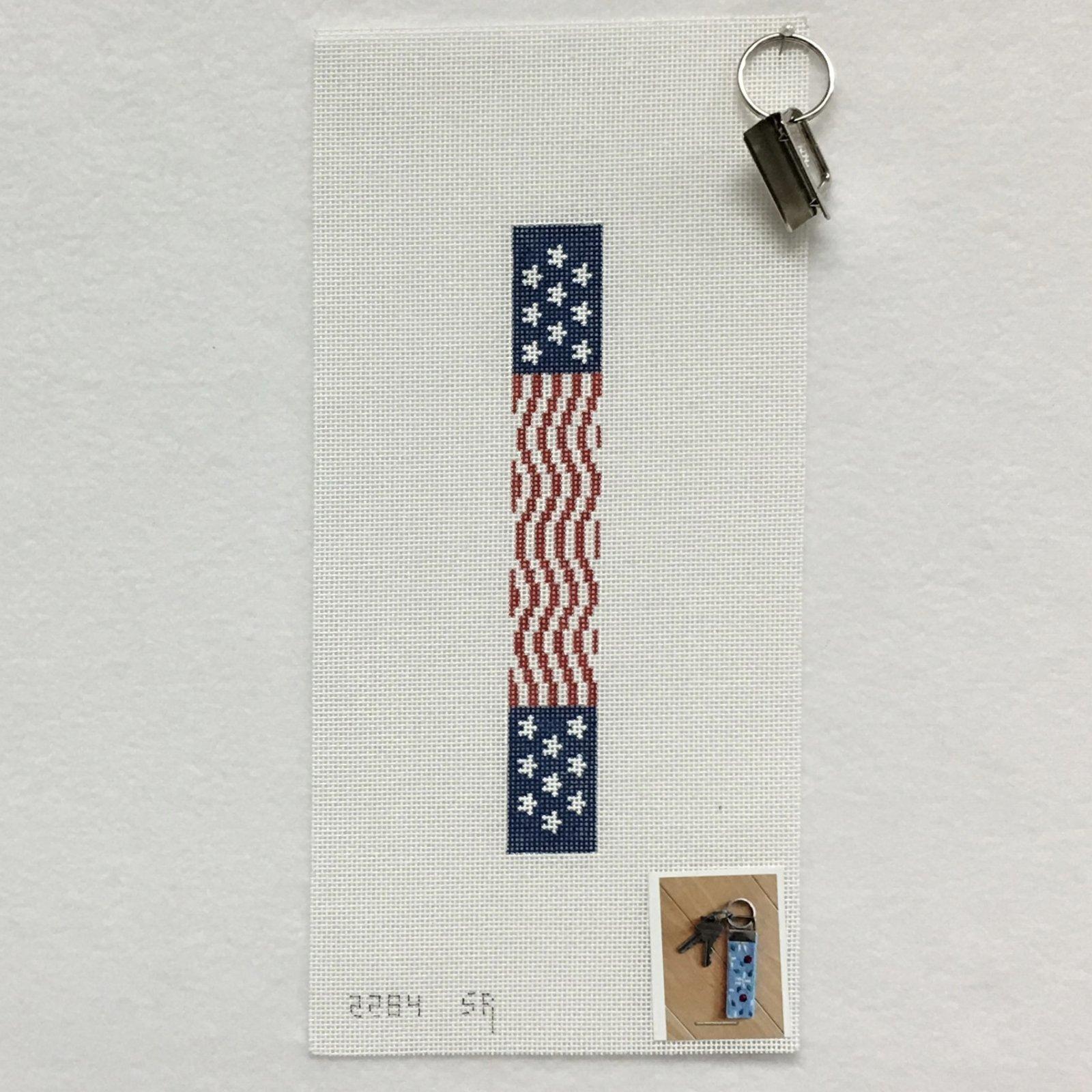 2284 US Flag Wave Key Fob