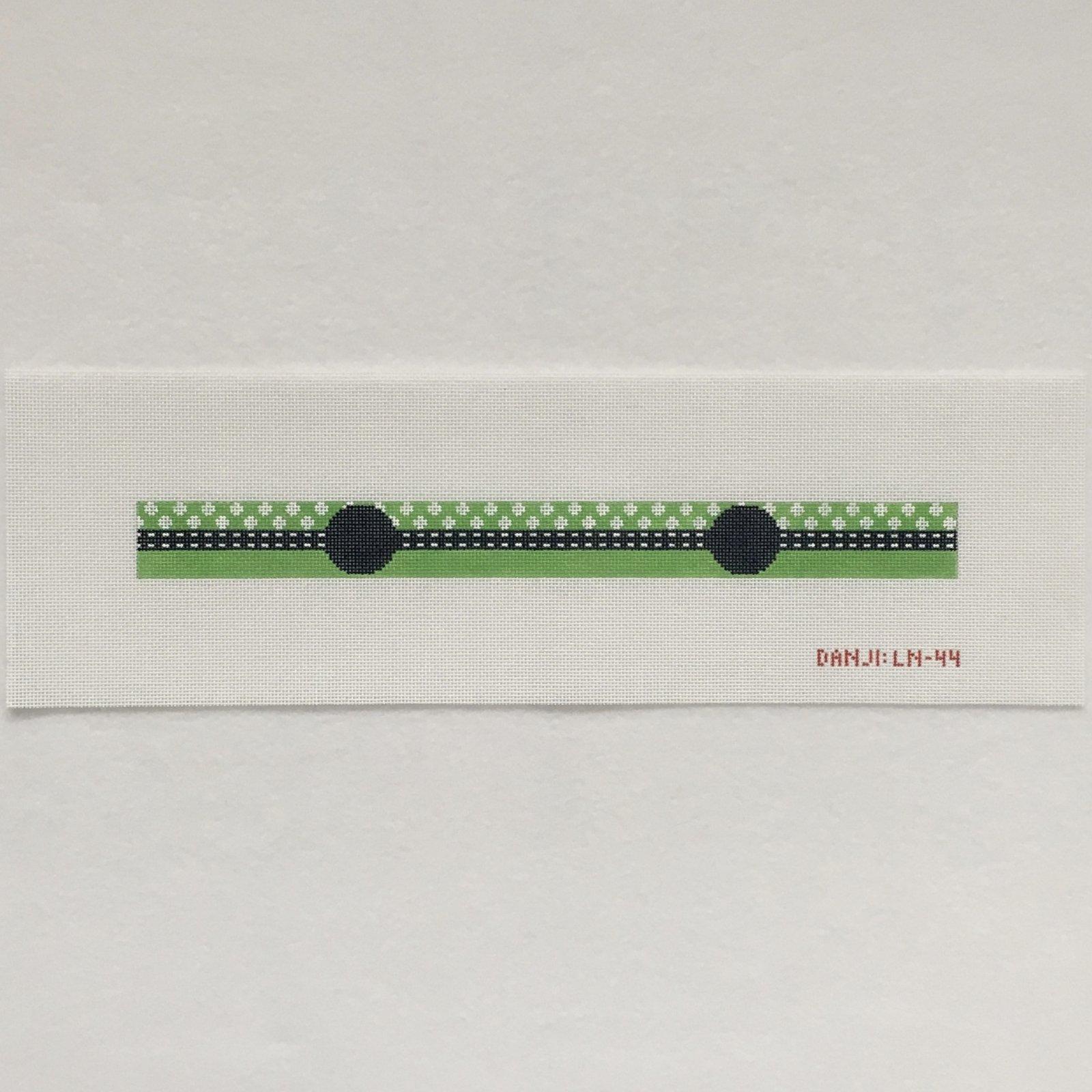 LN44 Green and White Polka Dot Long Key Fob