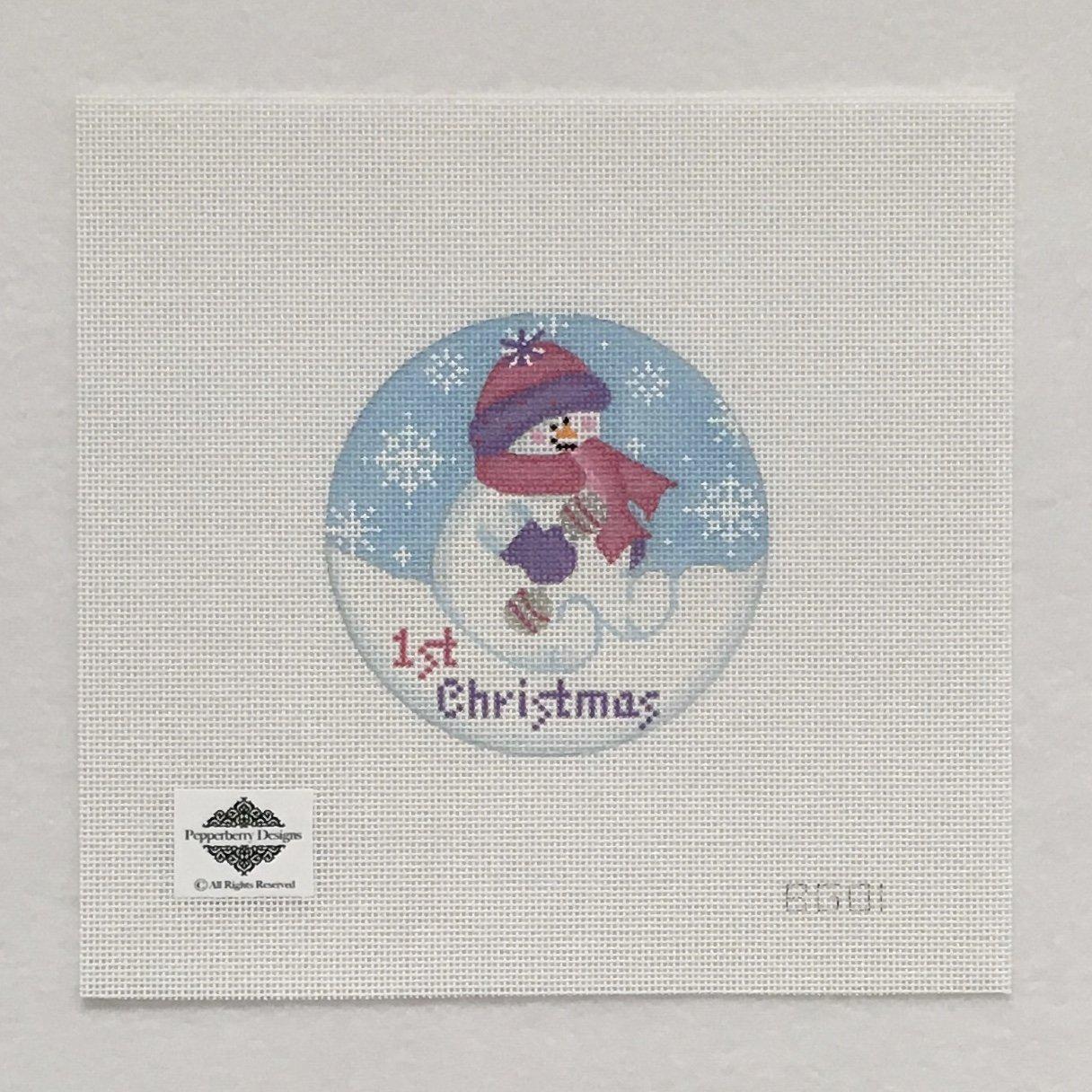 BG01 Baby Snowgirl 1st Christmas