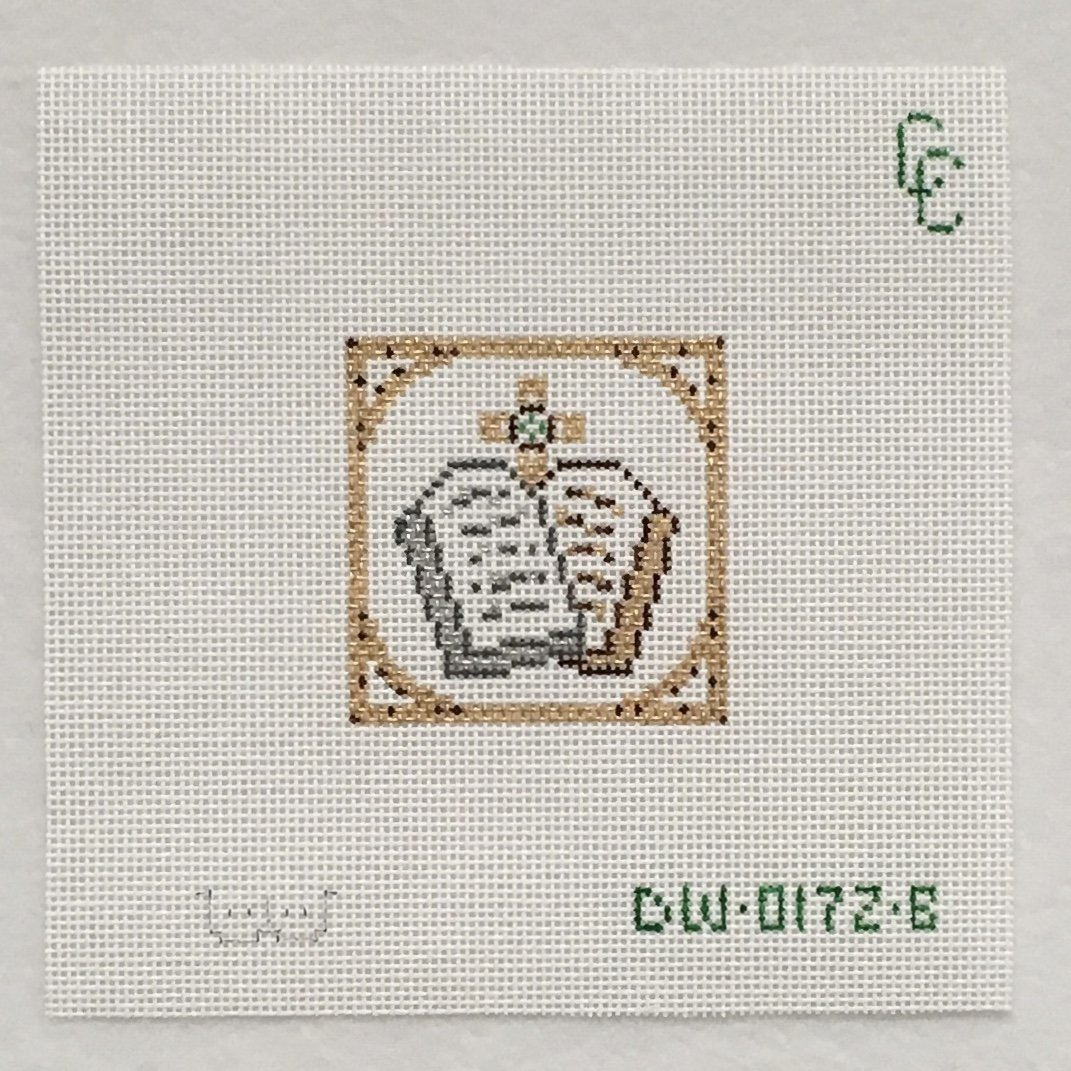 0172B Bordered Tablets Chrismon, square