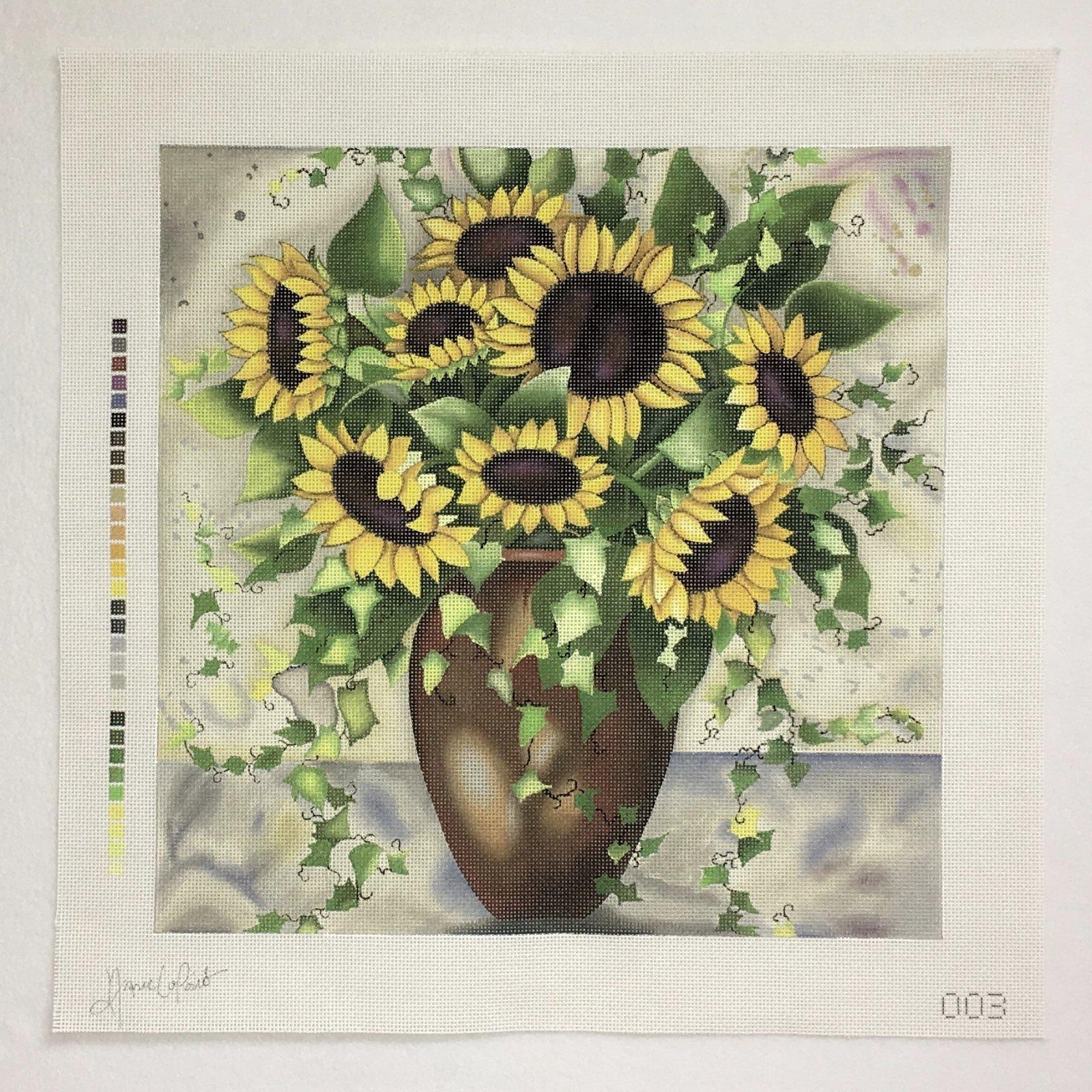 ALP003 Sunflowers in Vase