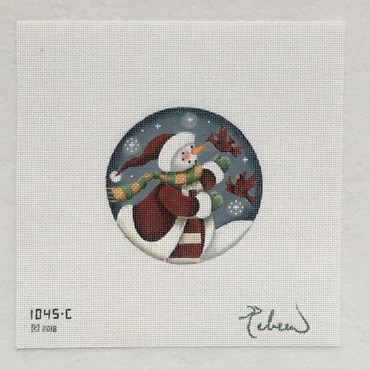 1045C Folk Snowman Ornament