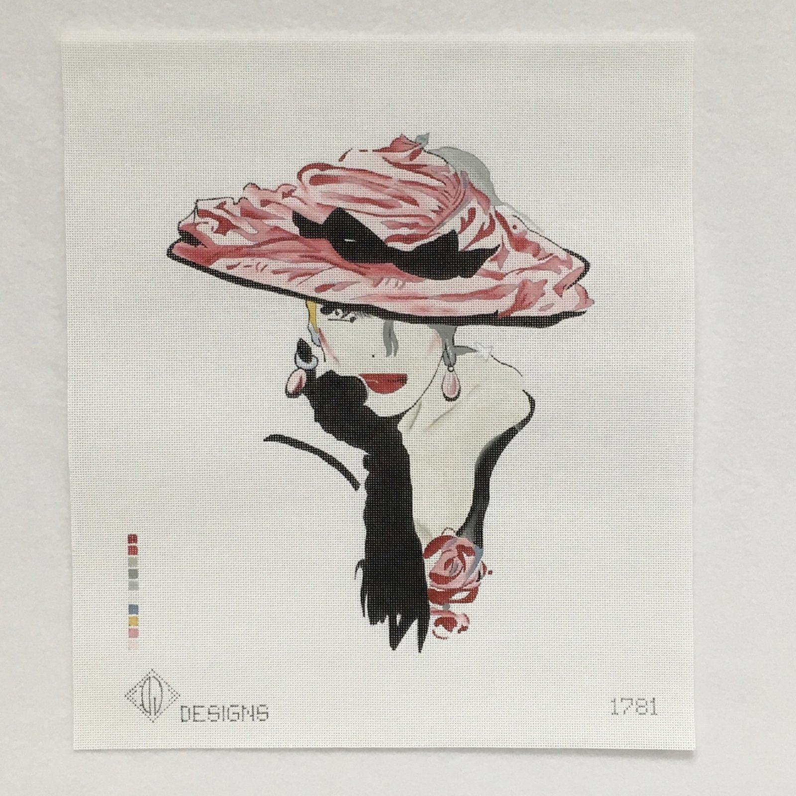 DL1781 Lady in Pink Hat
