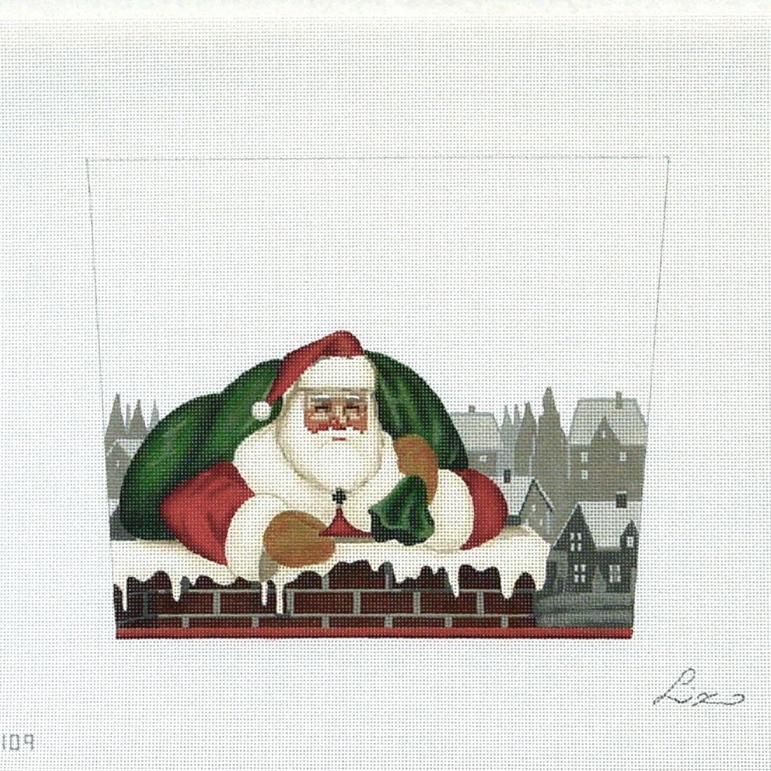 ST109 Chimney Santa Stocking Topper