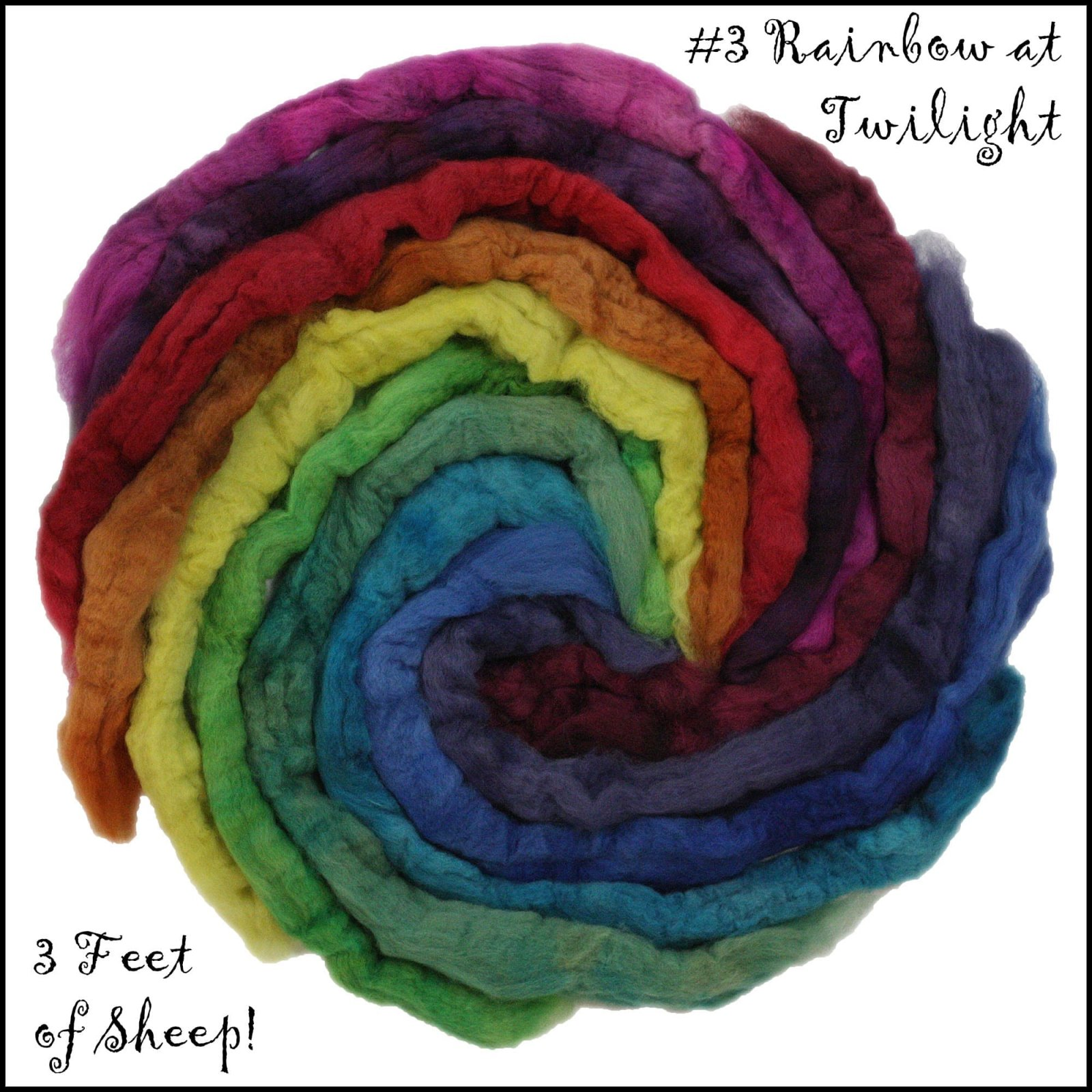 Three Feet of Sheep-#3 Rainbow at Twilight