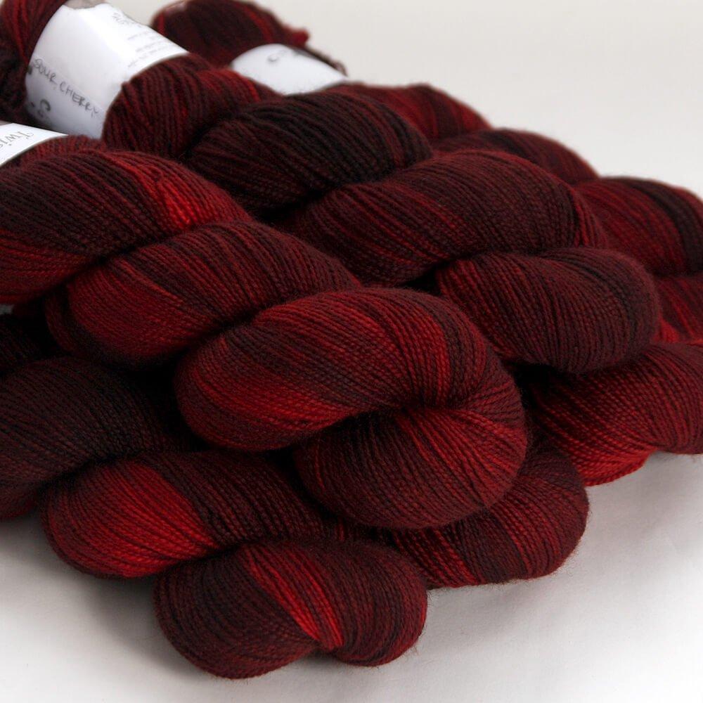 Hedgehog Sock-Sour Cherry