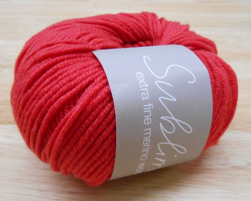 Sublime Extra Fine Merino DK-#167 Red Hot