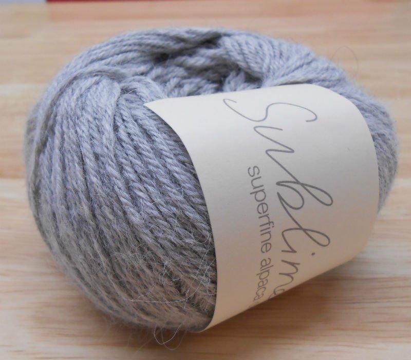 Sublime Superfine Alpaca DK-#433 Soft Grey